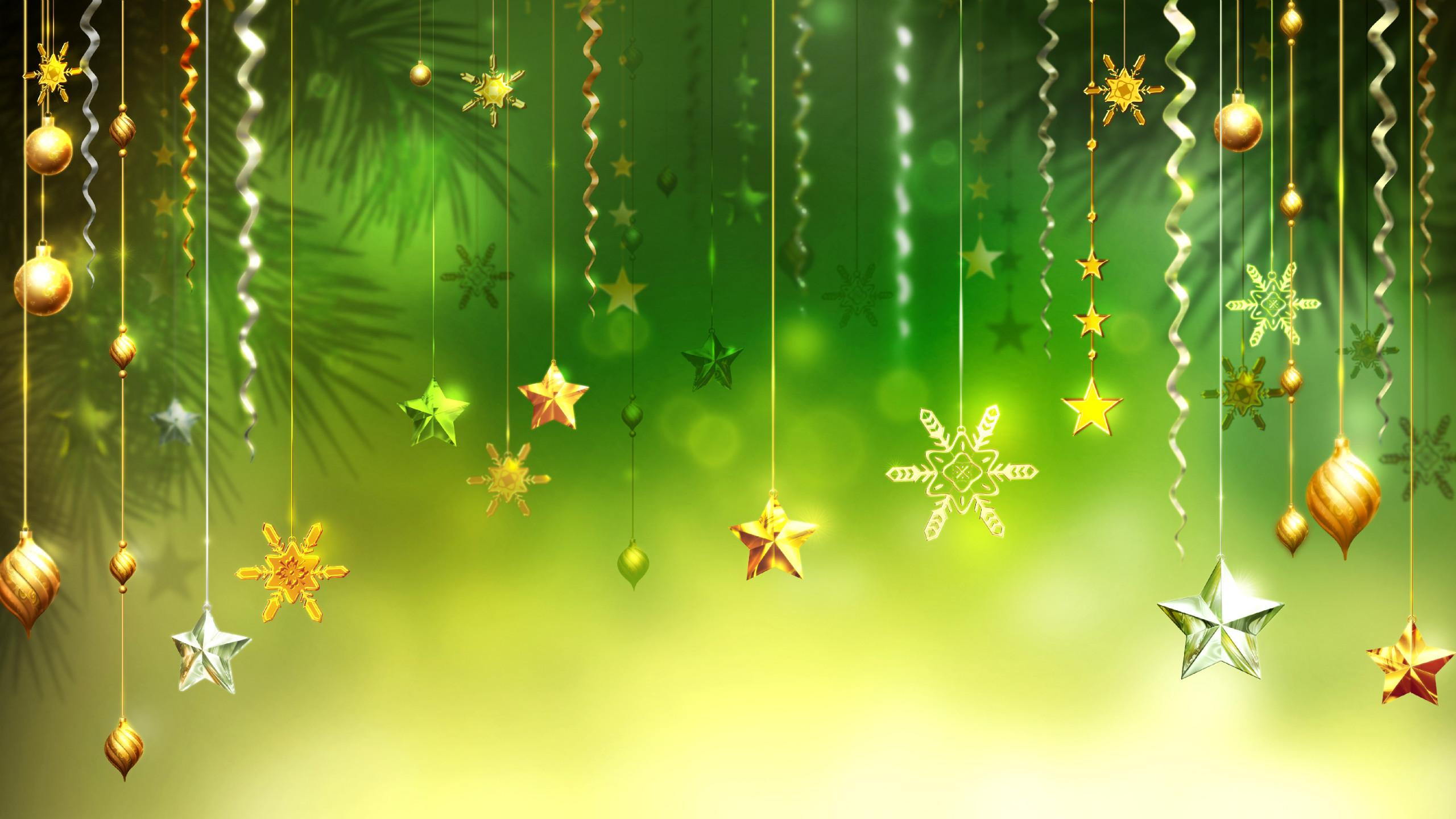 Christmas Wallpaper HD Green