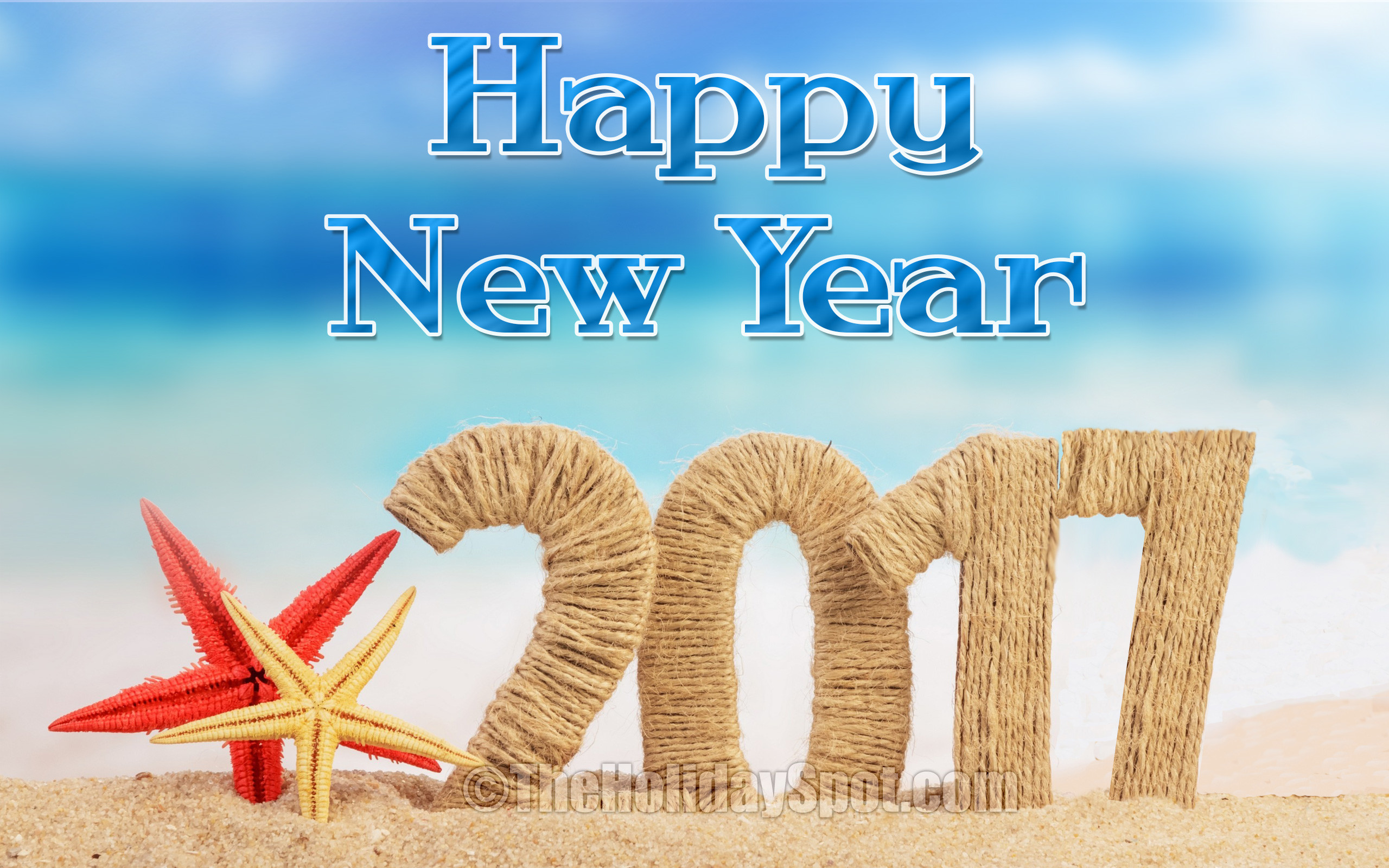 New Year Wallpaper – Happy New Year with rope