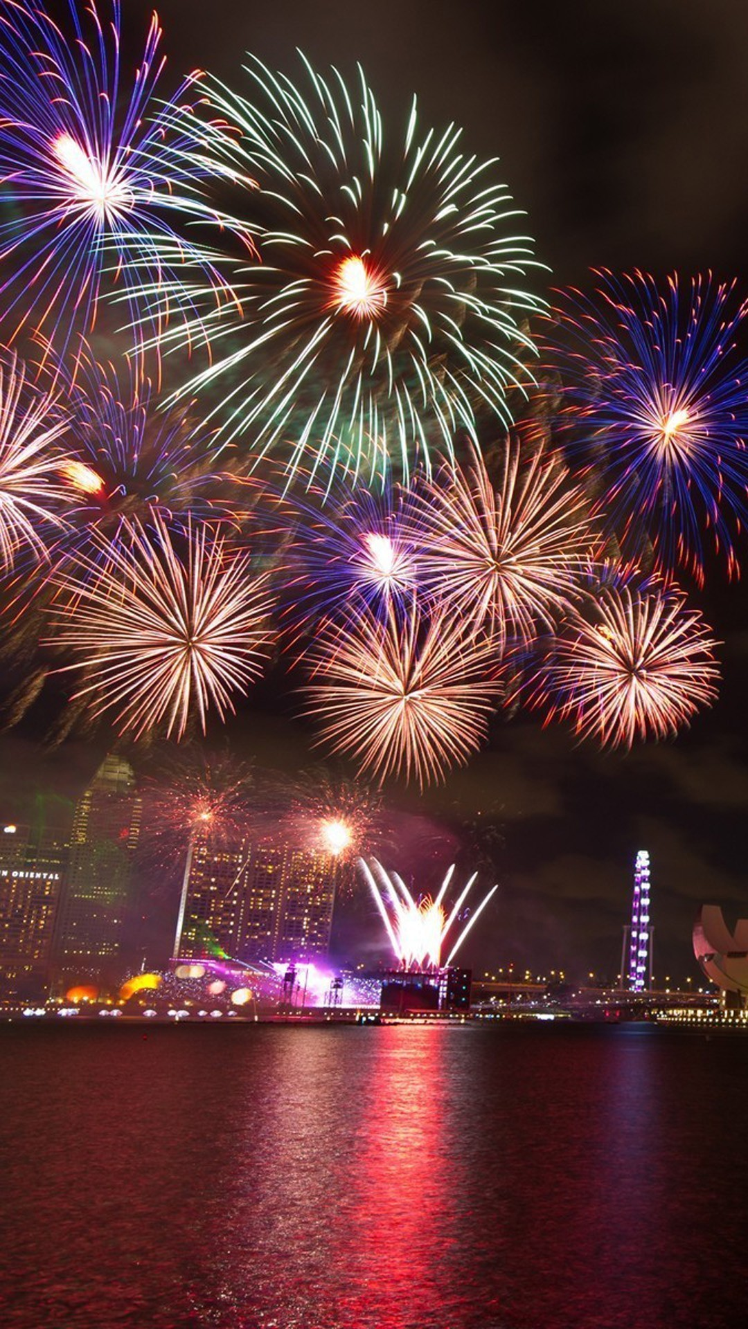 New Year Fireworks wallpaper locations. Download: left; right