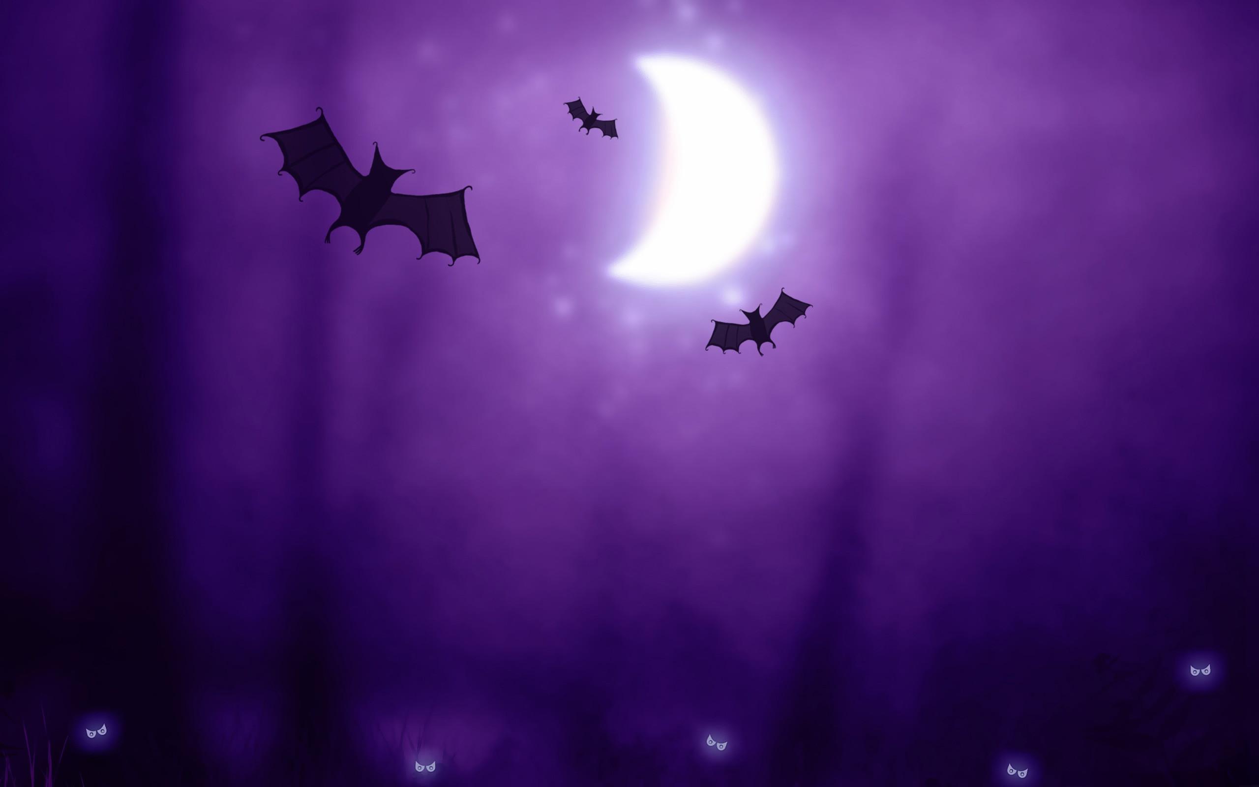 Bats Halloween iPhone Panoramic Wallpaper