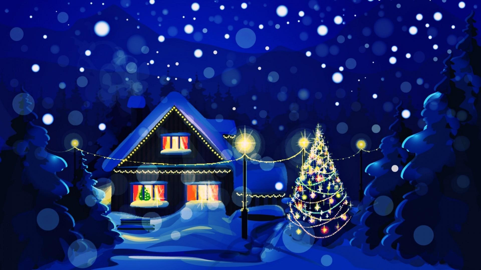 blue animated christmas wallpaper