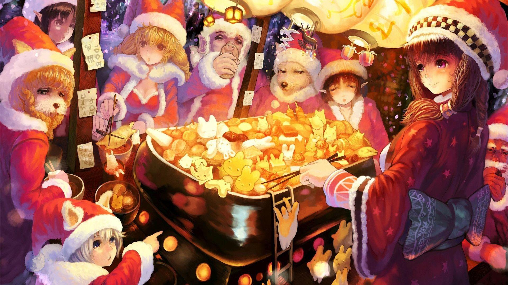 Anime Christmas HD Wallpaper Anime …