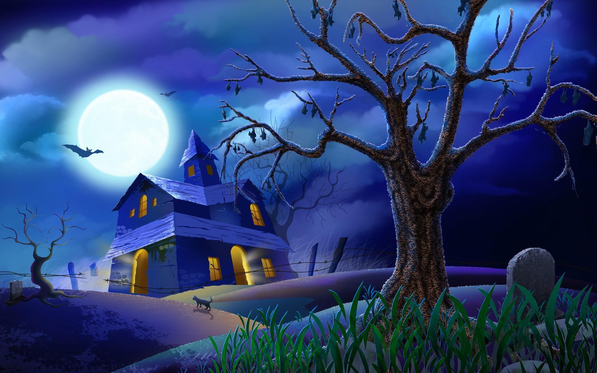 Wishing you a Happy Halloween animated gif halloween happy halloween  haunted house halloween pics