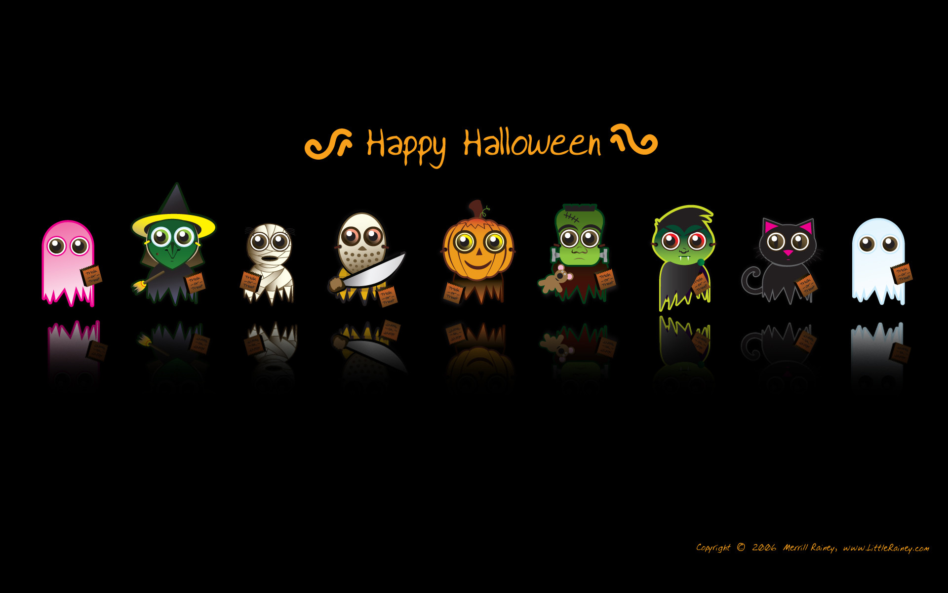 Wallpapers desktop themes holidays halloween funny animated ghost .