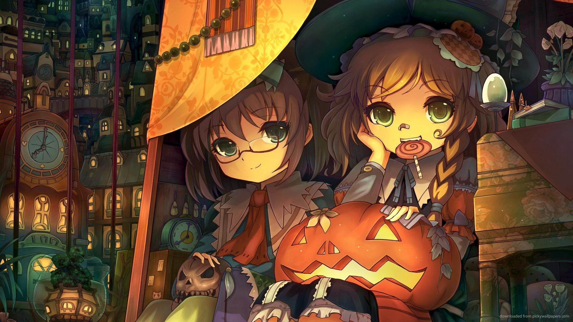 2560×1440 Touhou Halloween wallpaper