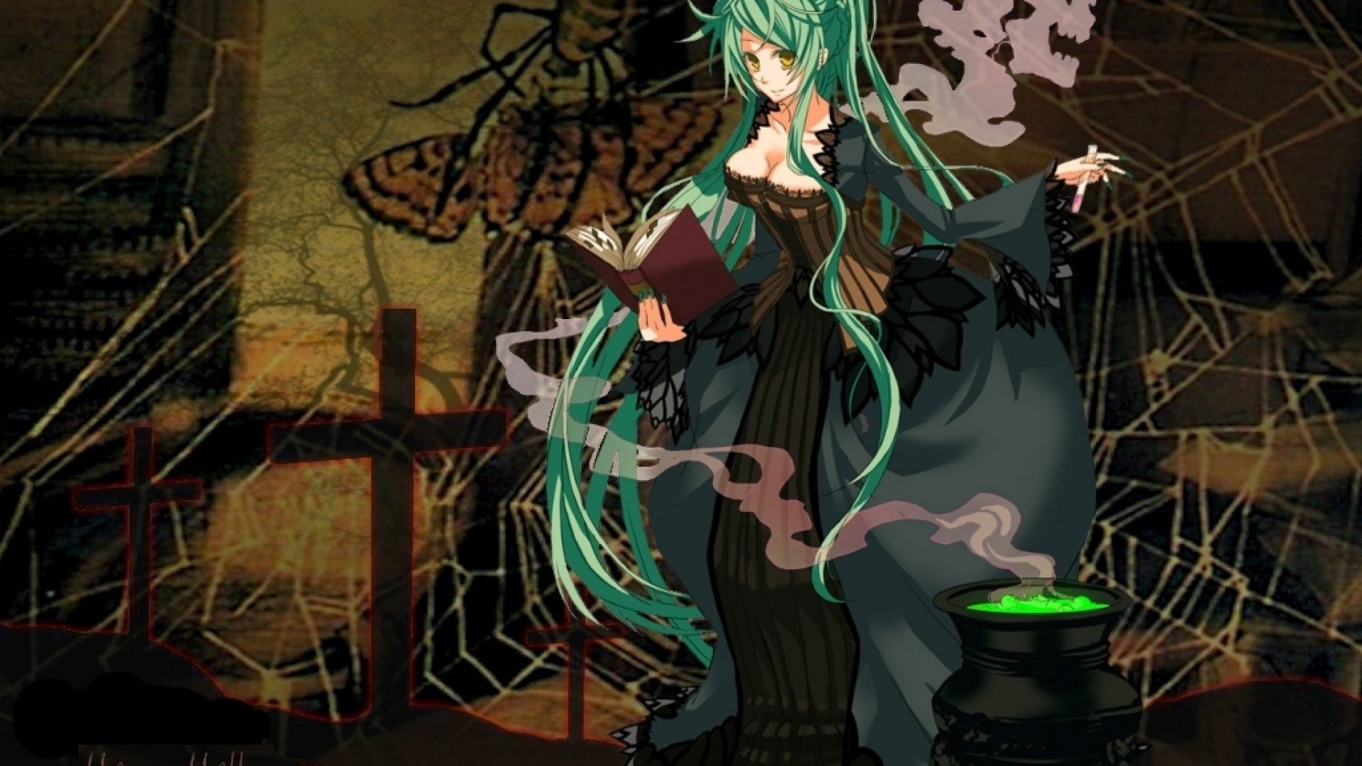 halloween wallpaper halloween witch ; wallpaper-halloween-anime