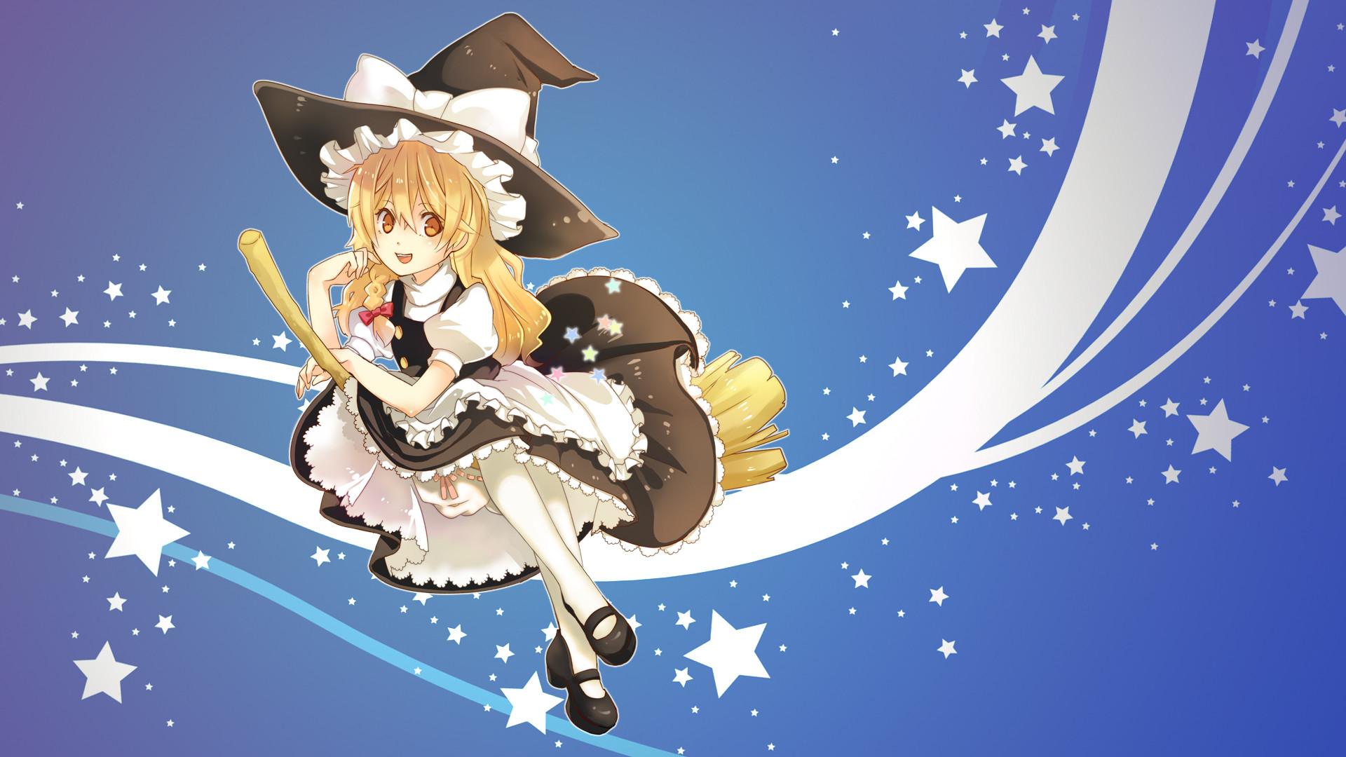 Anime – Touhou Witch Marisa Kirisame Wallpaper