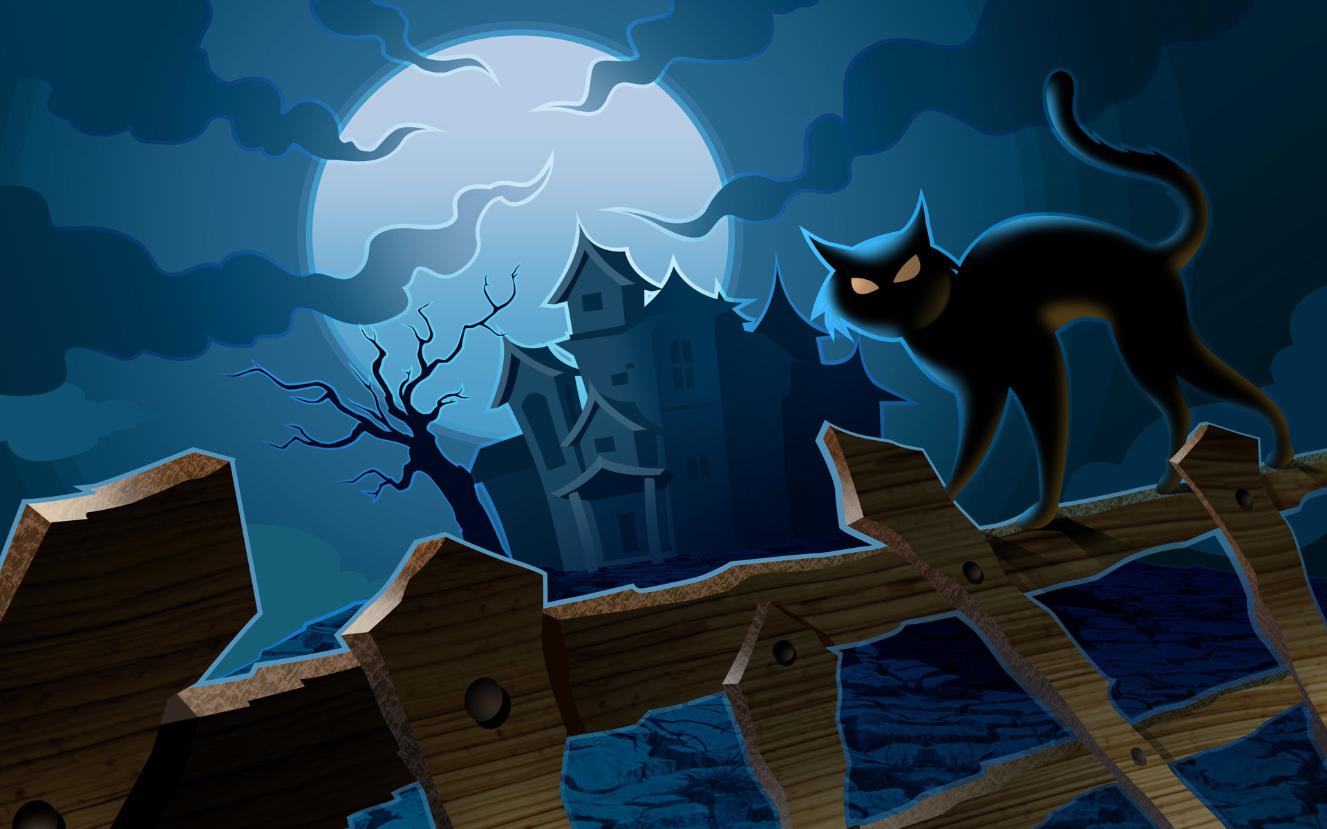Wallpapers | Pumpkins, Witches, Spider Web, Bats & Ghosts Collection .