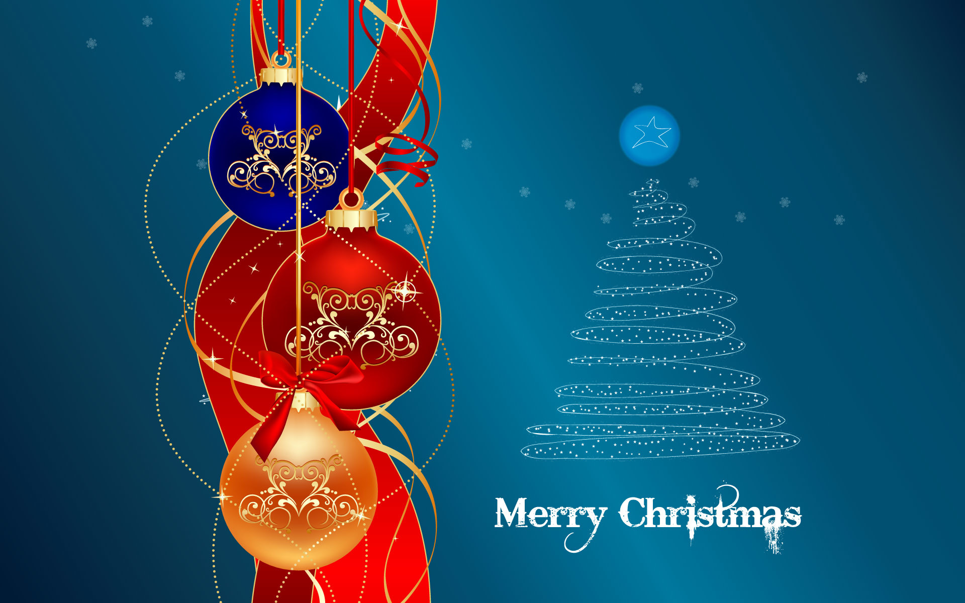 Merry christmas happy new year animated wallpaper
