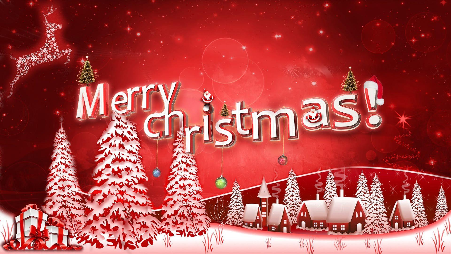 Merry Christmas 2017 greetings with beautiful Christmas tree HD wallpaper  free