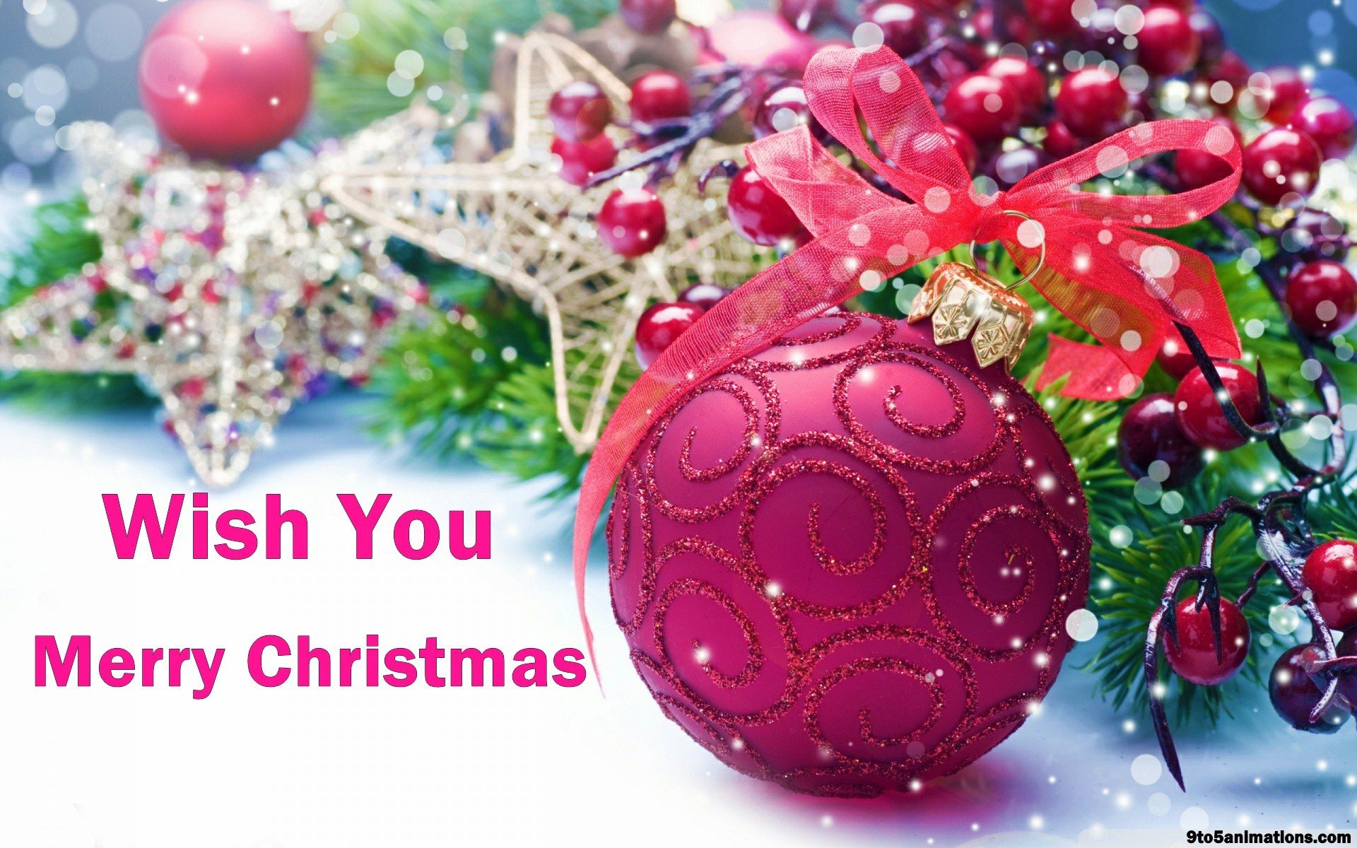 Merry Christmas wishes high definition desktop backgrounds