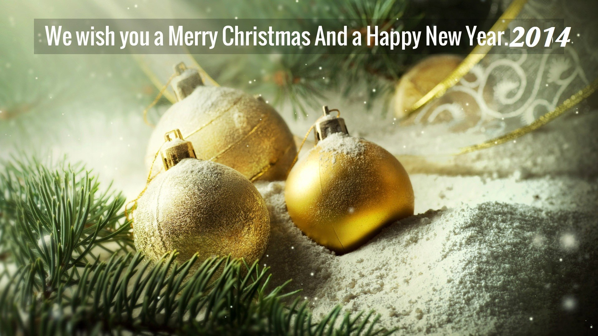 Happy New year 2014 & Merry Christmas Wallpapers