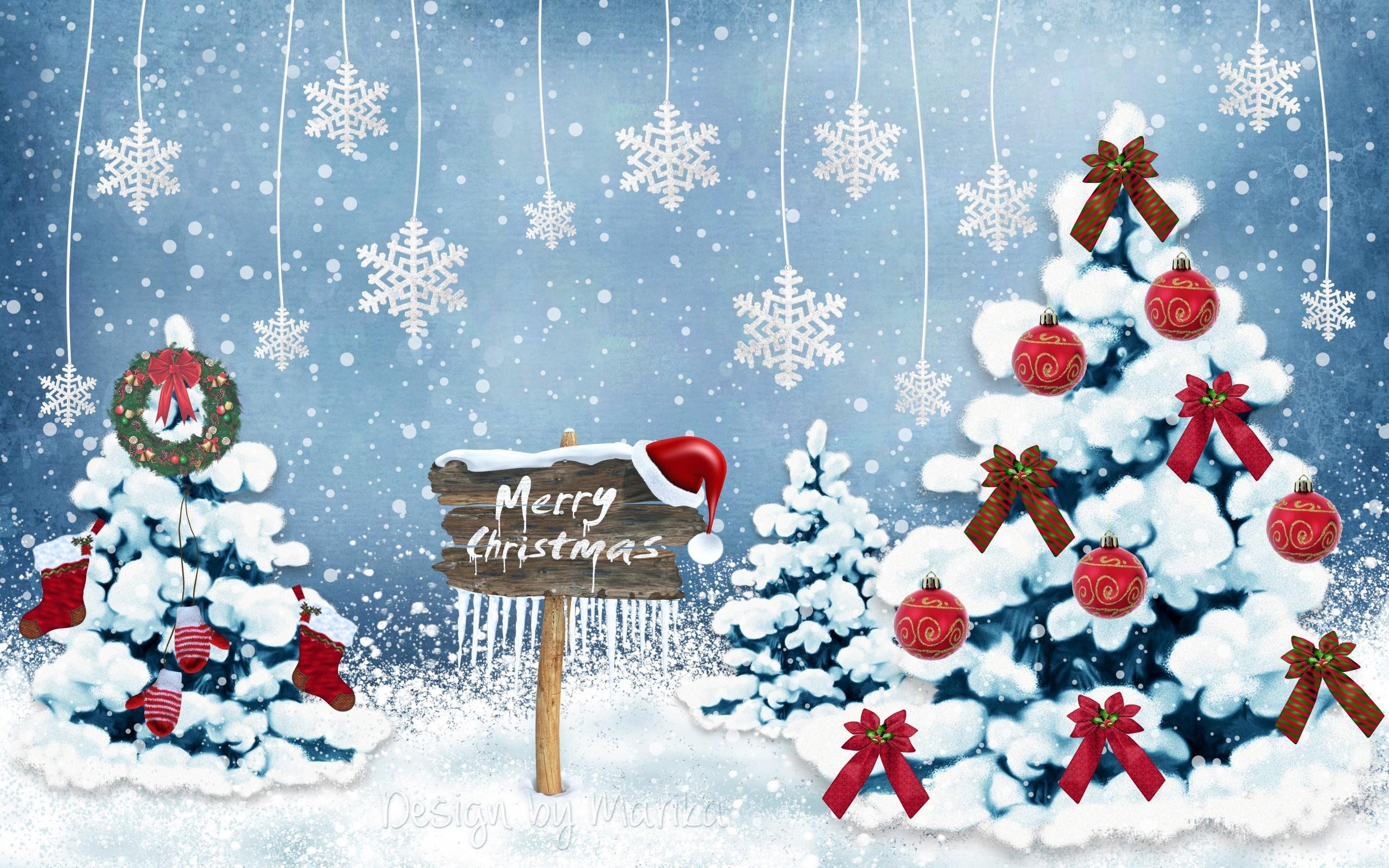 Merry Christmas 2016 HD Wallpaper 2560×1600