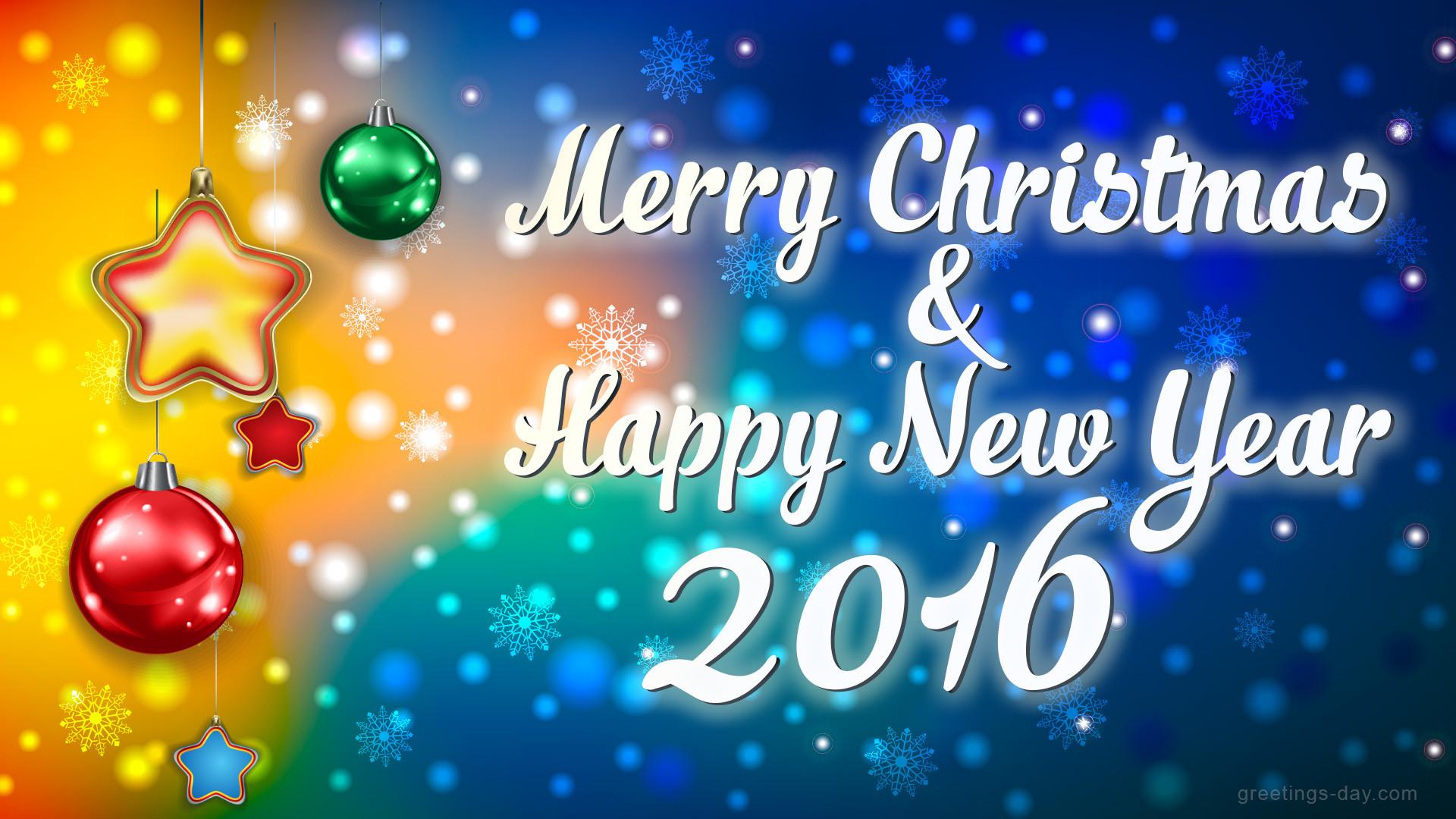 Merry Xmas 2016 Desktop Wallpaper Picture