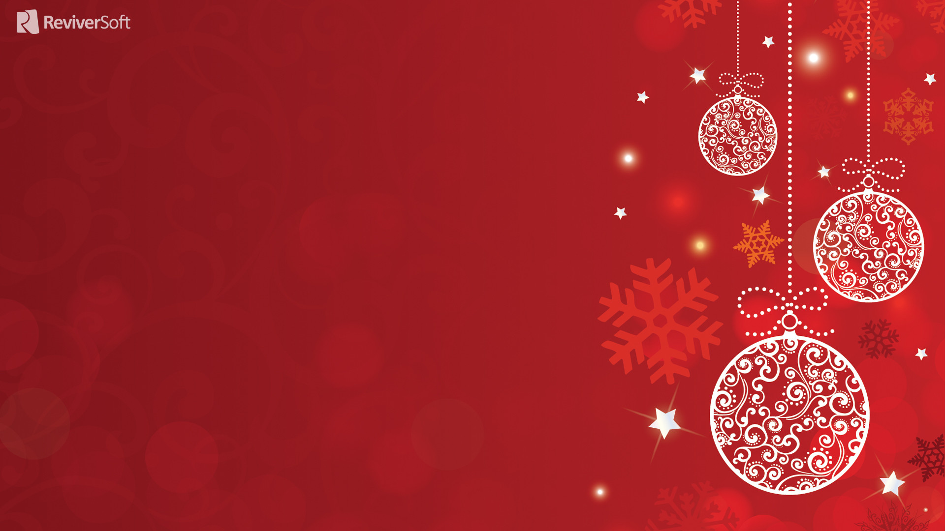 Christmas decorations on a red background on Christmas wallpapers .
