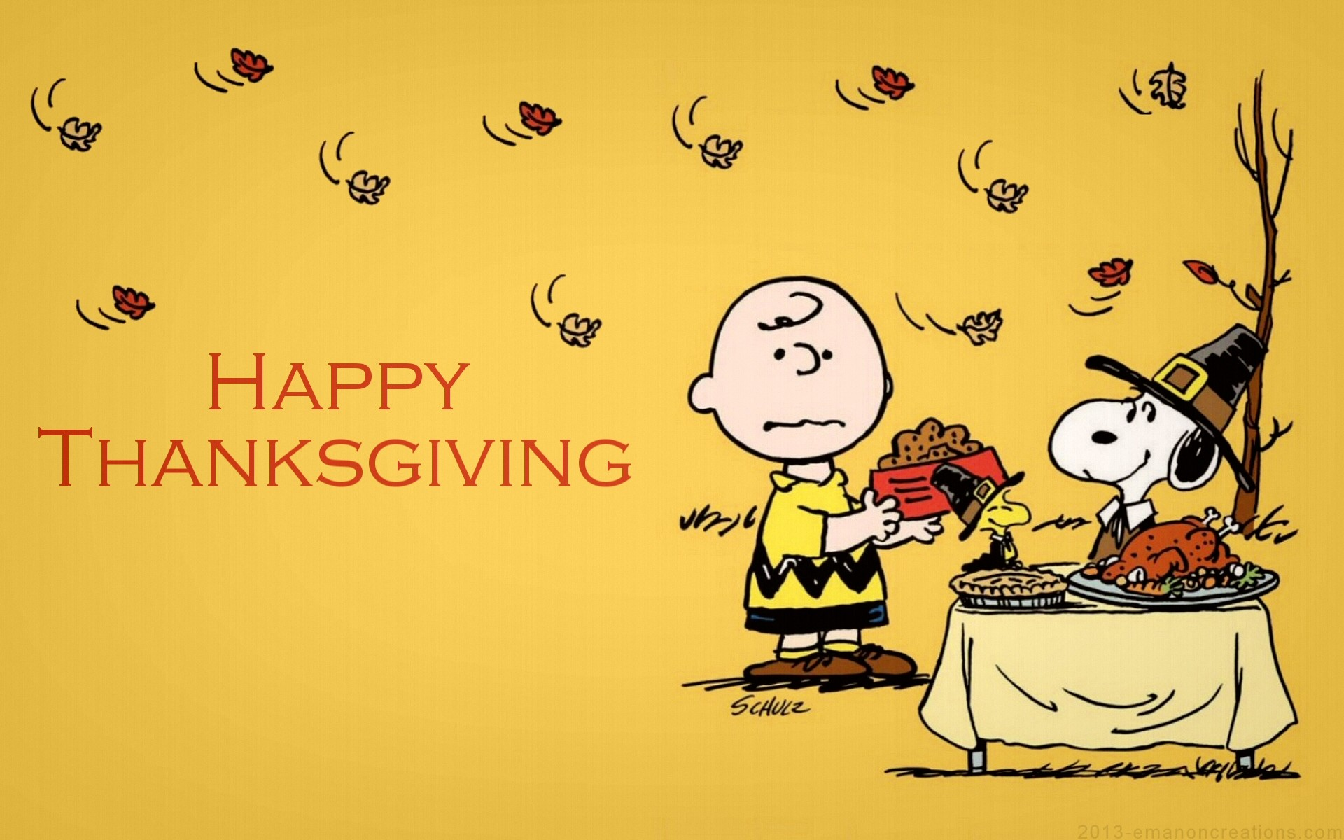 Charlie Brown Thanksgiving Backgrounds .