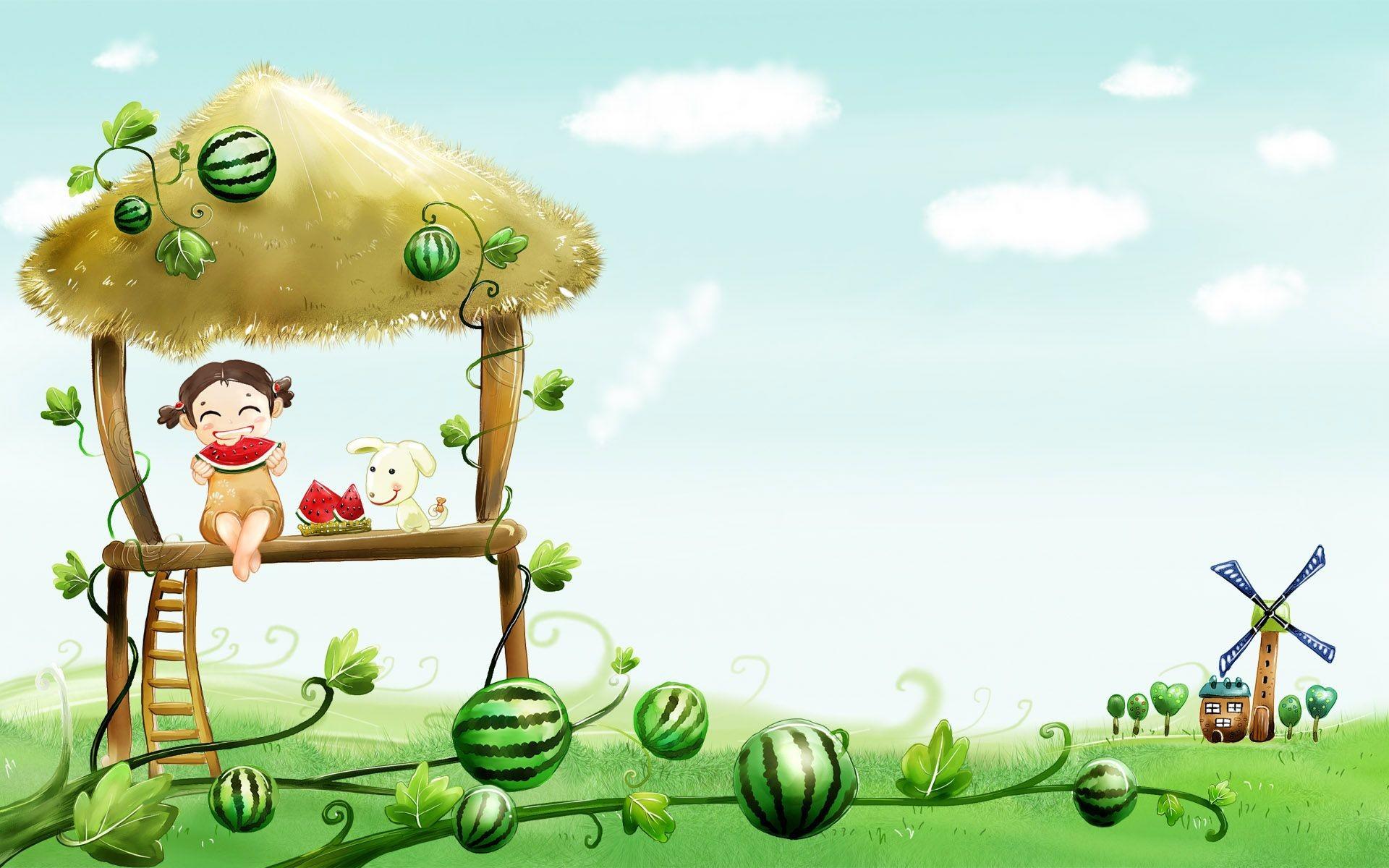 cartoon cute desktop wallpapers hd