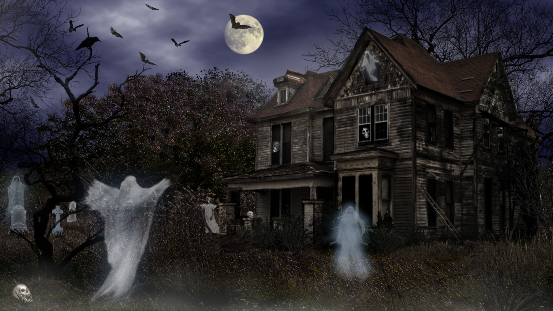 Screensavers Explore Haunted Mortuary Halloween wallpapers HD free .
