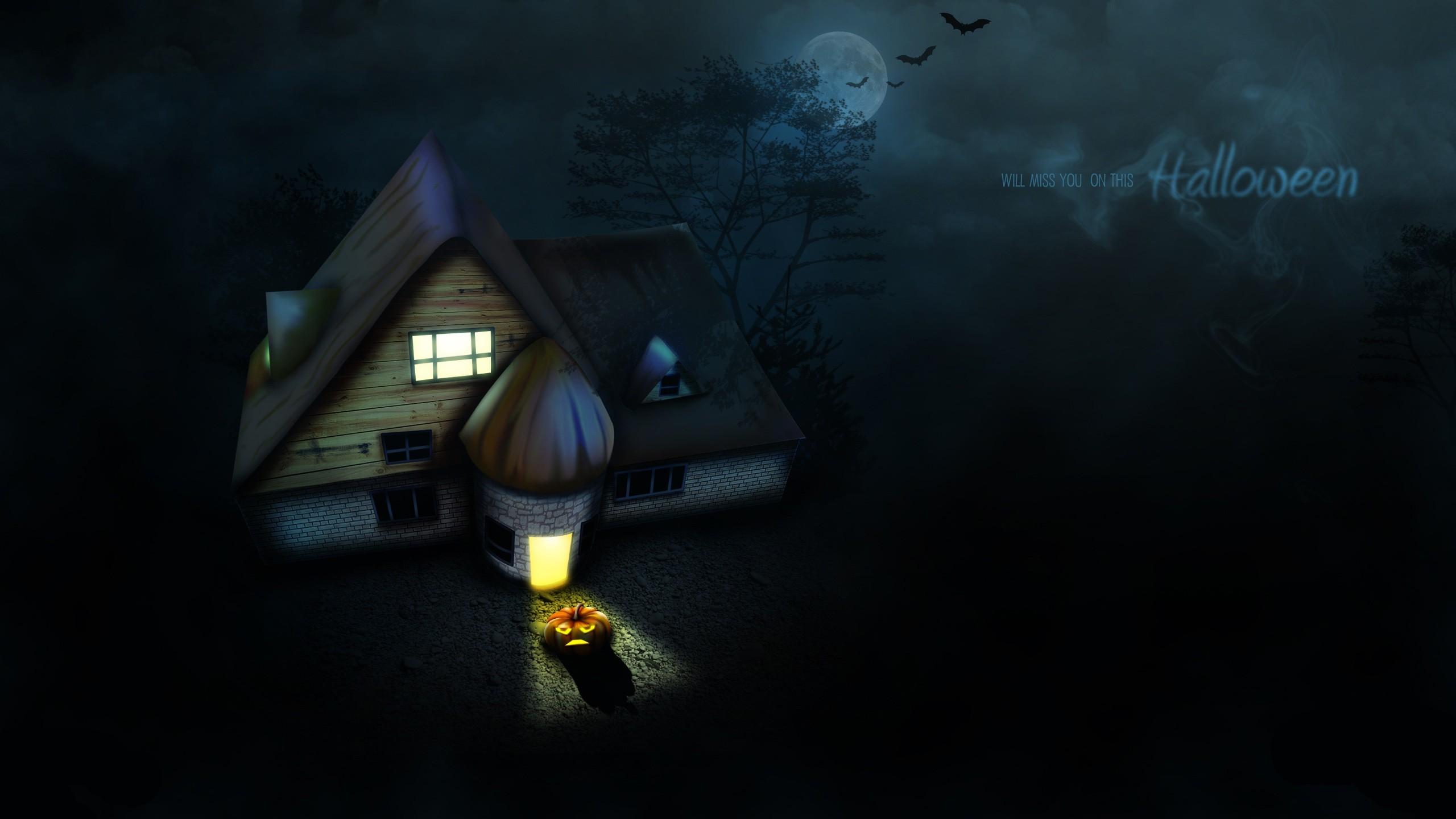 … x 1440 Original. Description: Download Halloween House Celebrations  wallpaper …