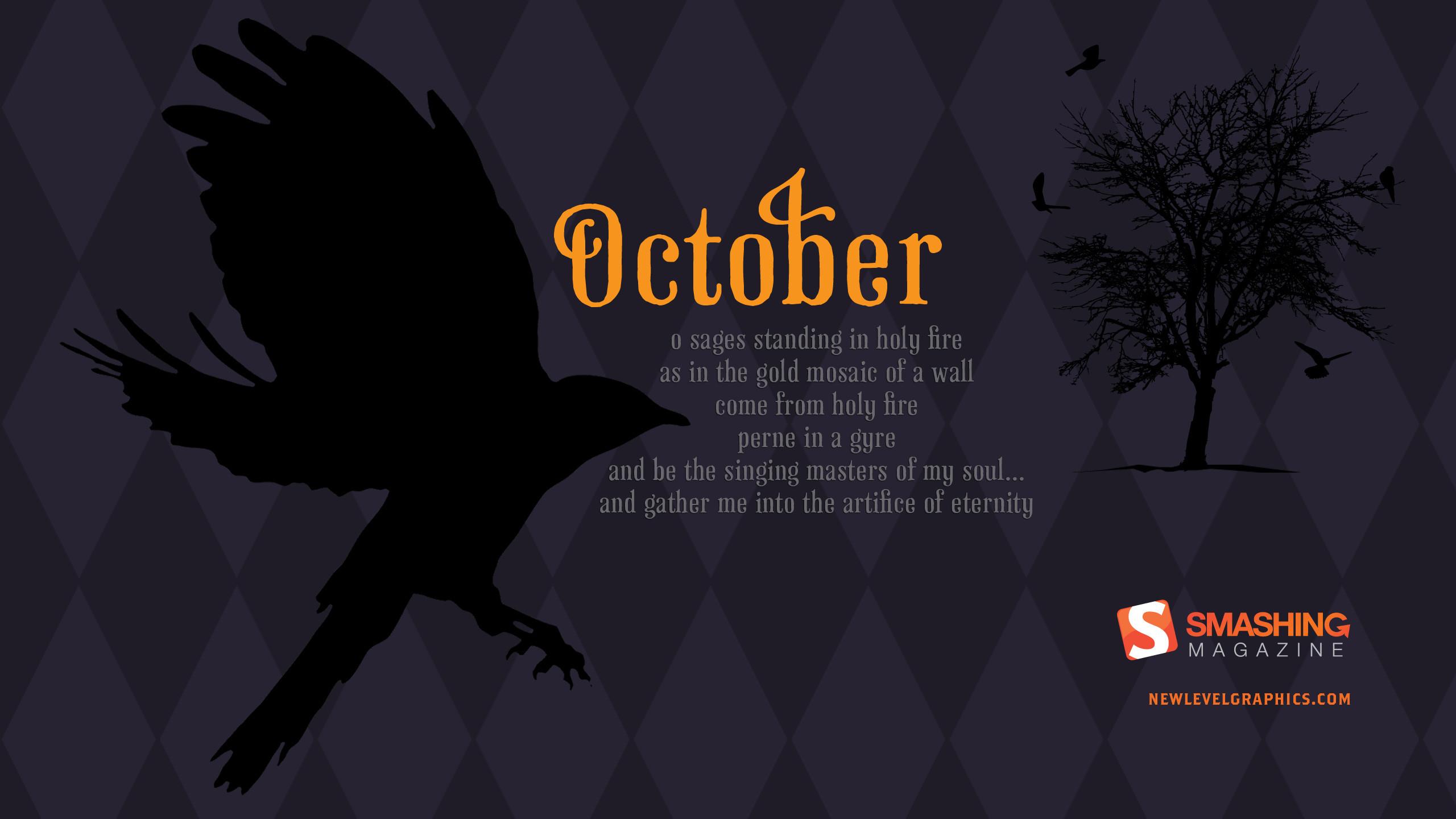 Free Halloween animated desktop wallpaper 2560×1440