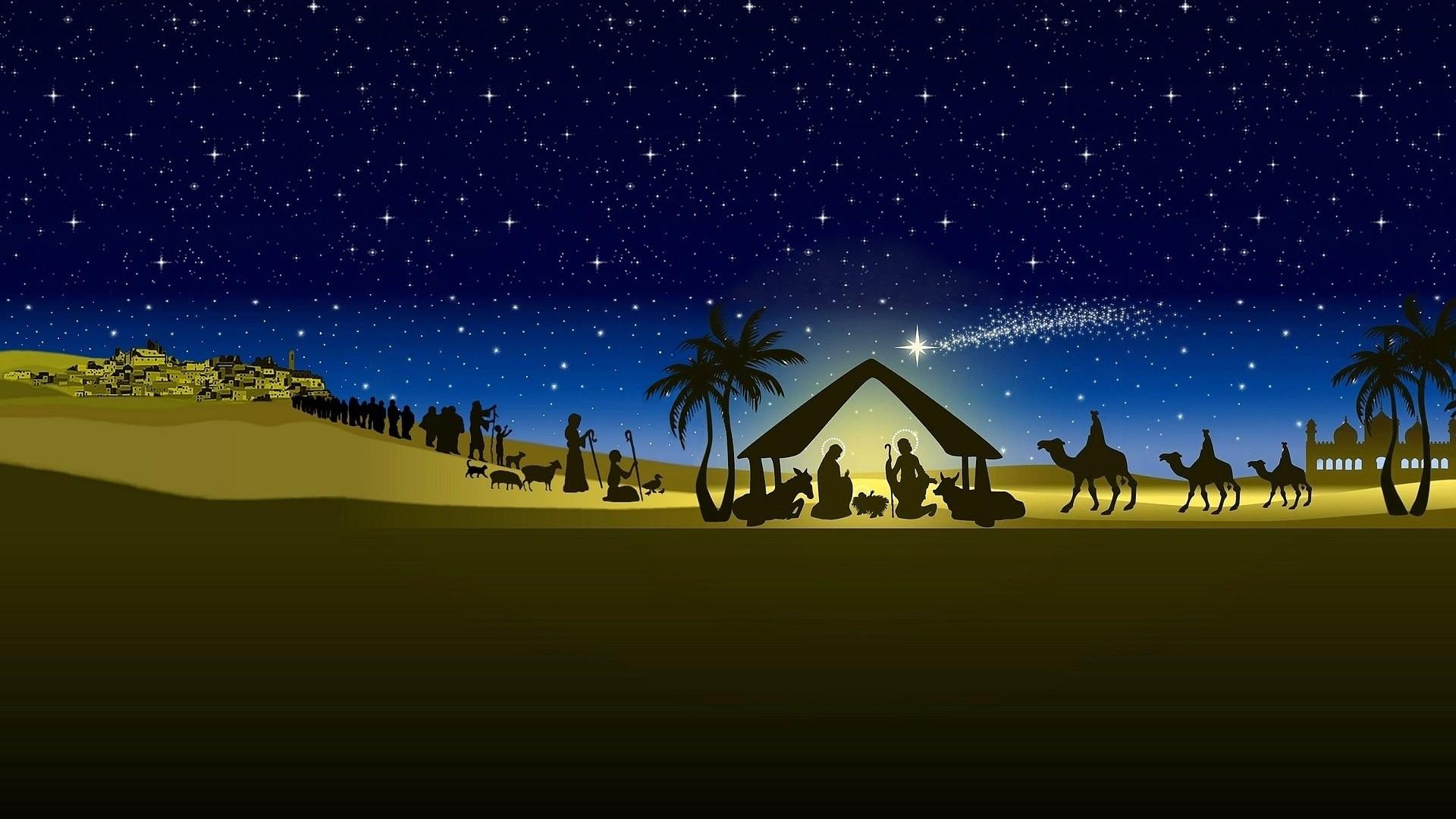 Religion, Christian, Christmas, Bethlehem Night, The Birth Of Jesus