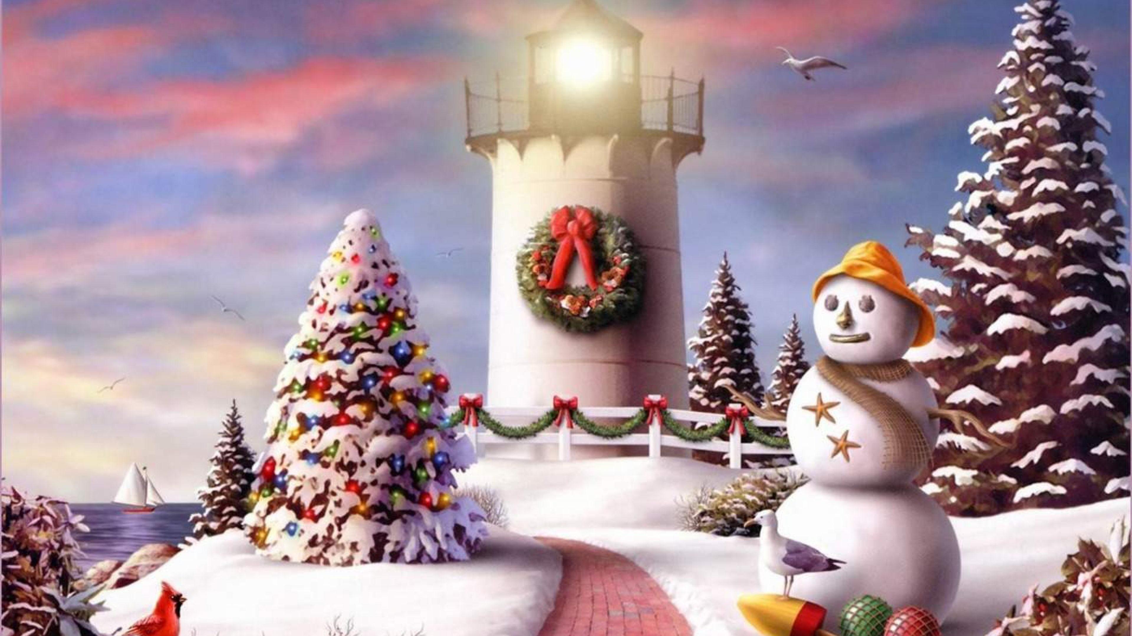 Free Christmas Desktop Wallpaper Background