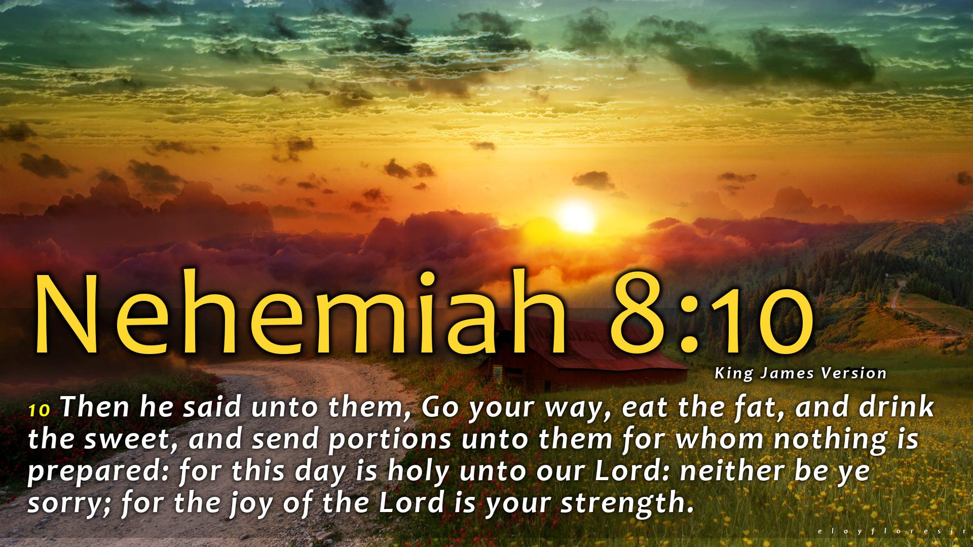 Nehemiah 8:10 wallpaper