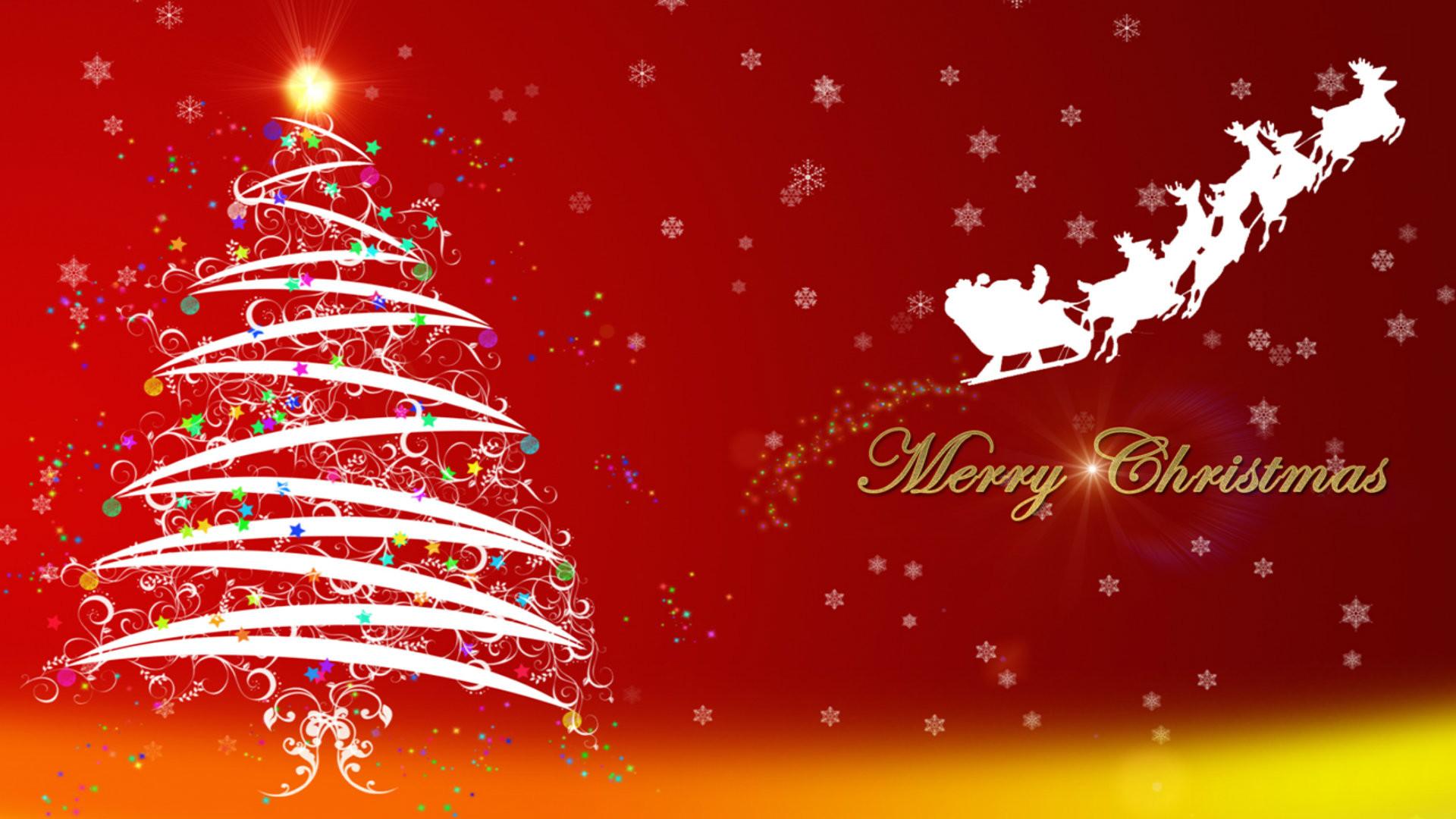 Merry Christmas Full HD Wallpaper 1920×1080