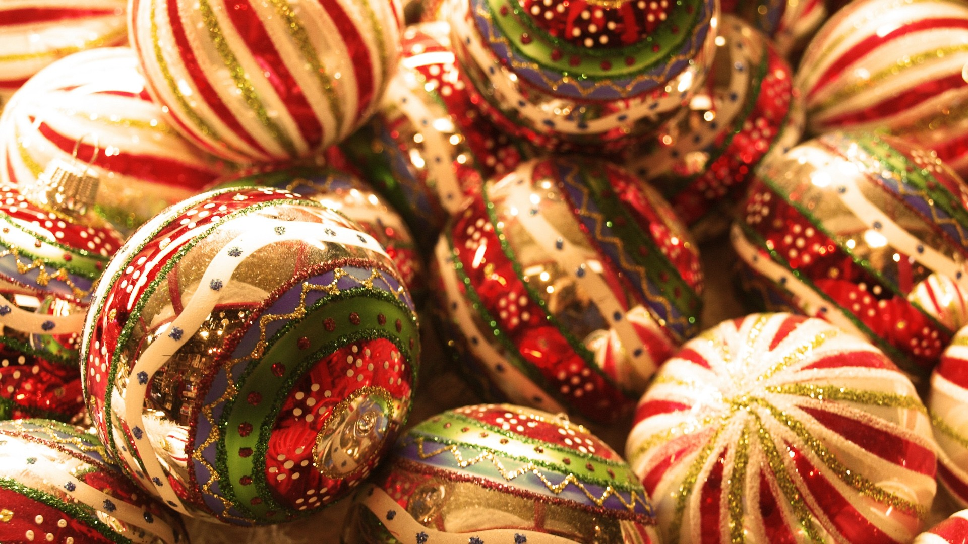 Preview wallpaper balloons, toys, new year, christmas 1920×1080