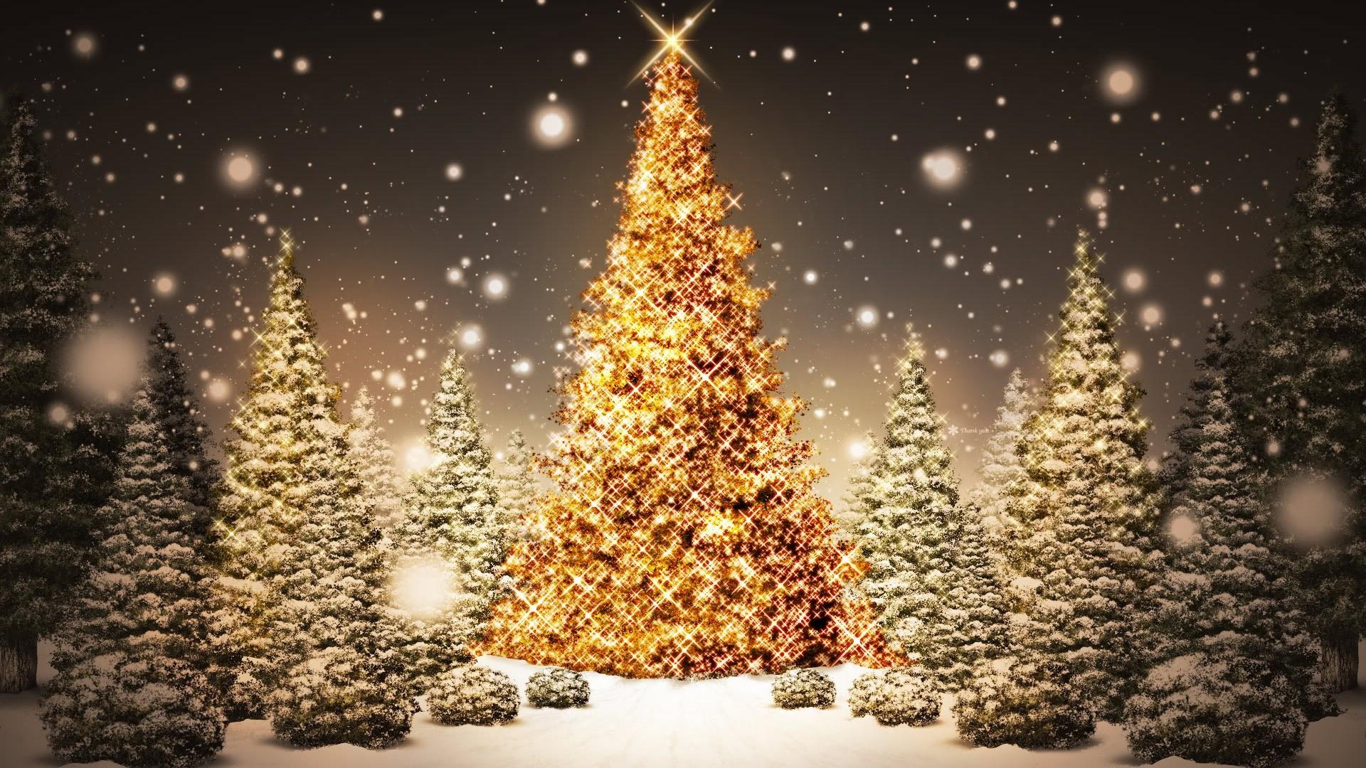 Free Christmas Lights Wallpaper. 1920×1080