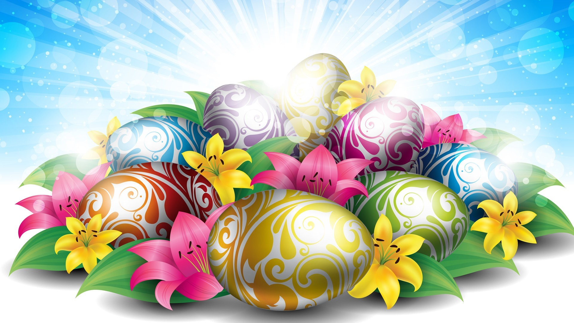 hd wallpaper lilies eggs for easter – Background Wallpapers for your .