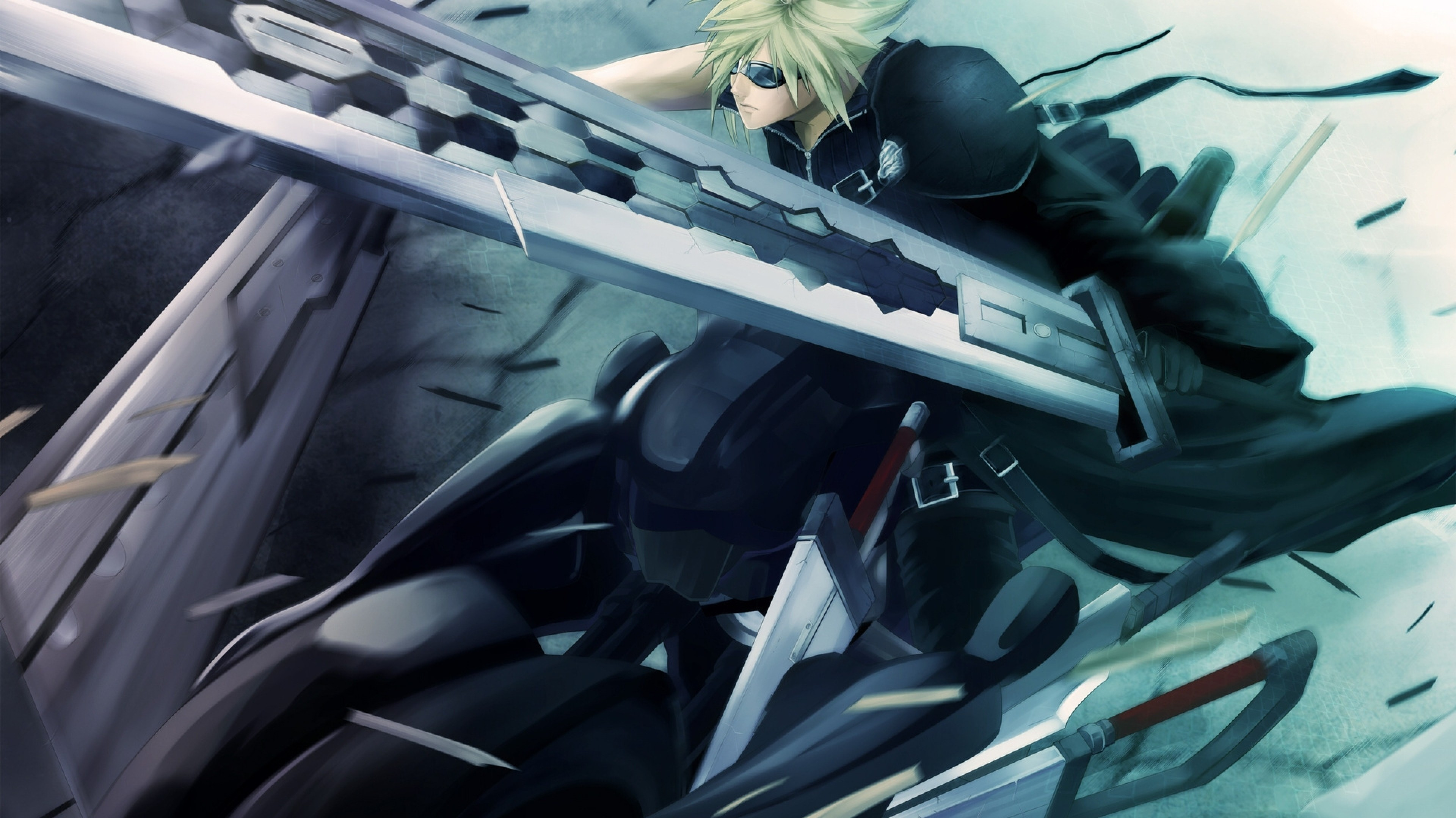 Preview wallpaper final fantasy 7, advent children, anime, weapons 3840×2160