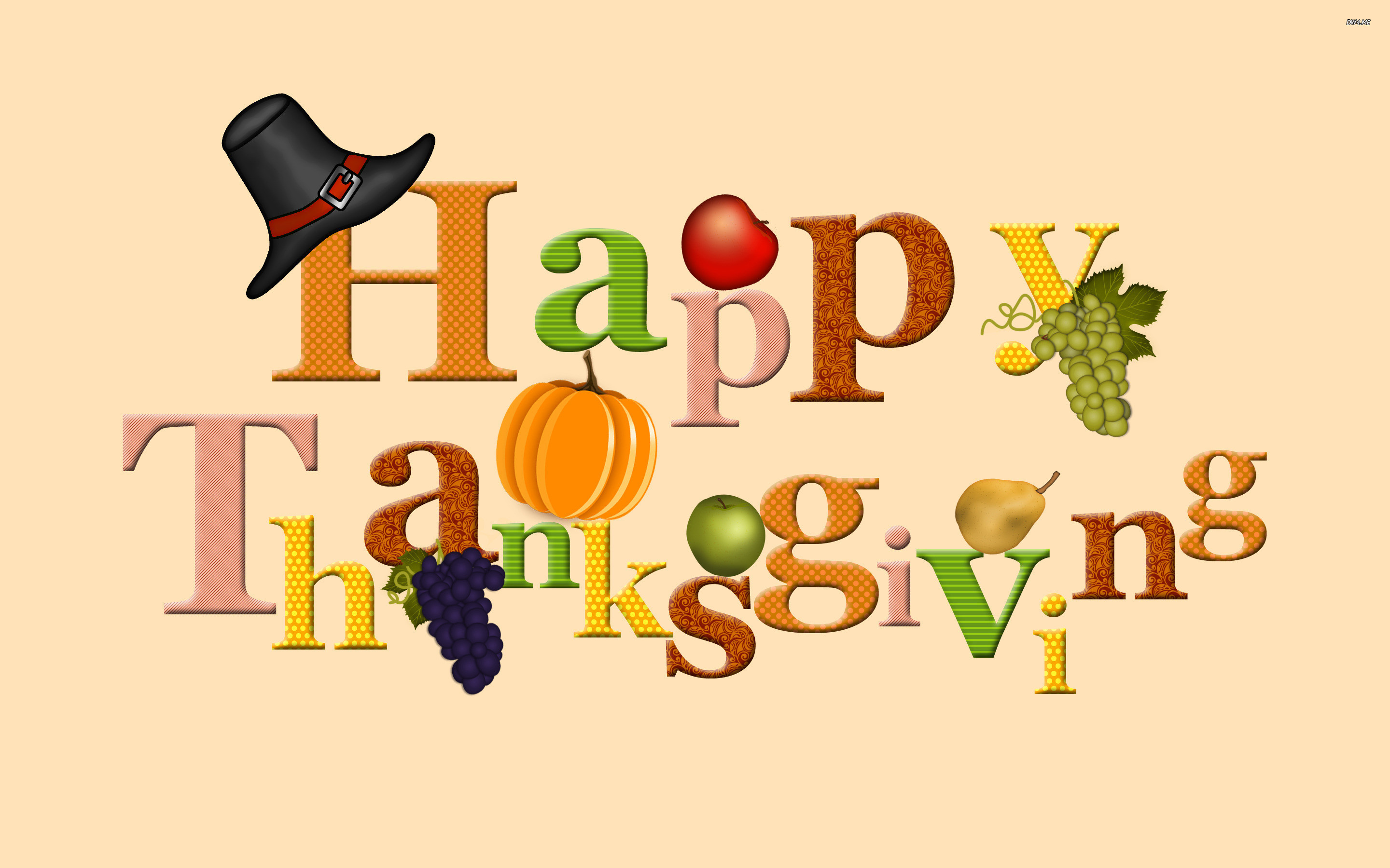 Cute Happy Thanksgiving Clip Art   1791-happy-thanksgiving -2880×1800-holiday-
