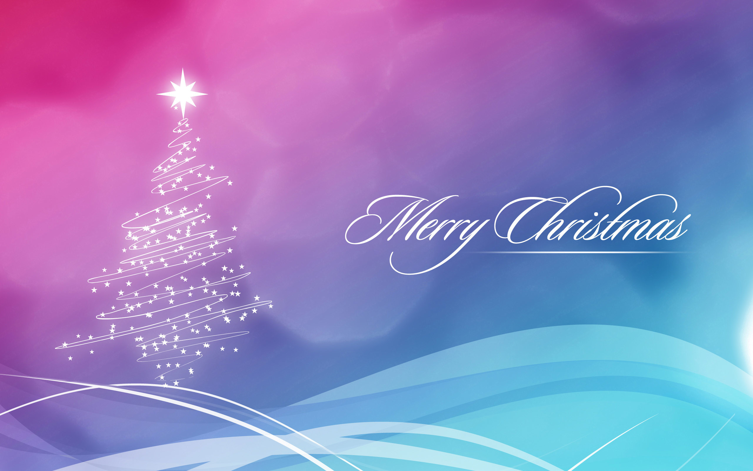 Merry Christmas Widescreen Wallpaper 2560×1600