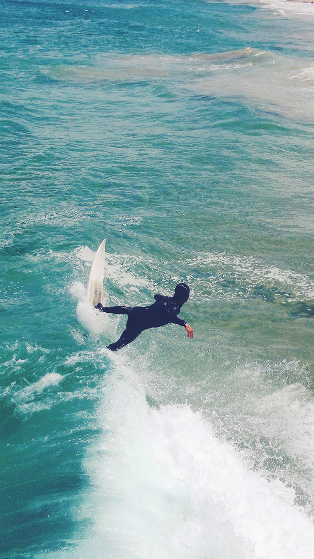 Summer Ocean Beach Surf Girl Nature Blue #iPhone #6 #plus #wallpaper