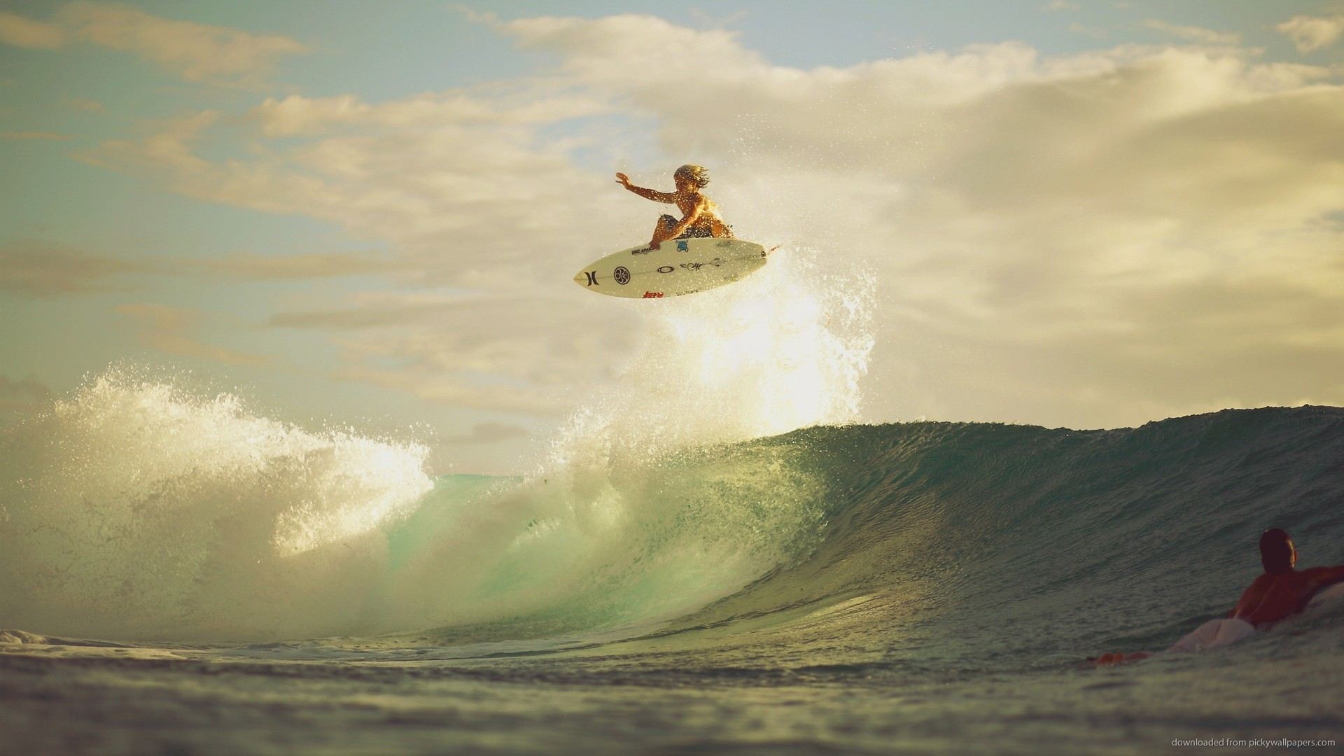 Surfing jump picture