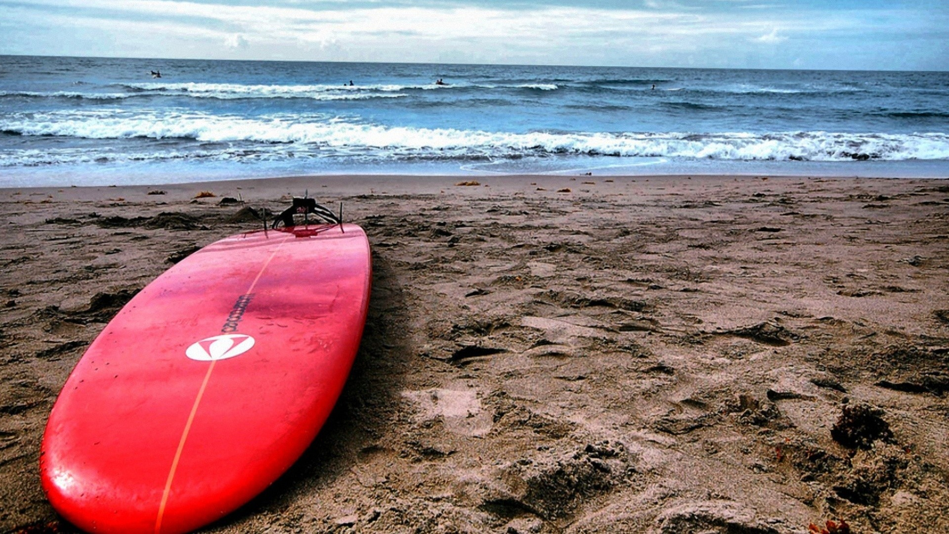 Red Surf Board. How to set wallpaper on your desktop? Click the  download link from above and set the wallpaper on the desktop from your OS.
