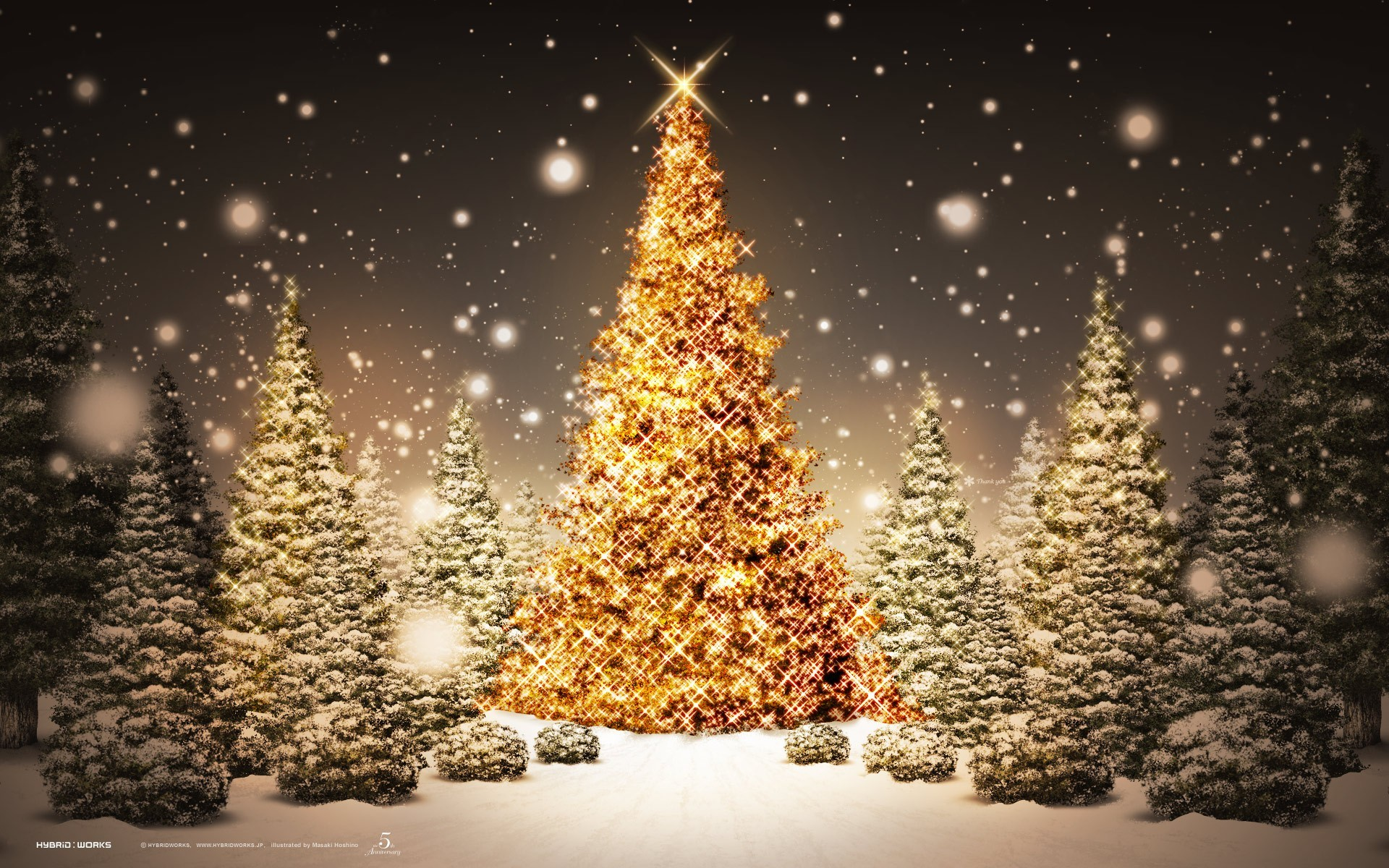 2015 Christmas desktop background