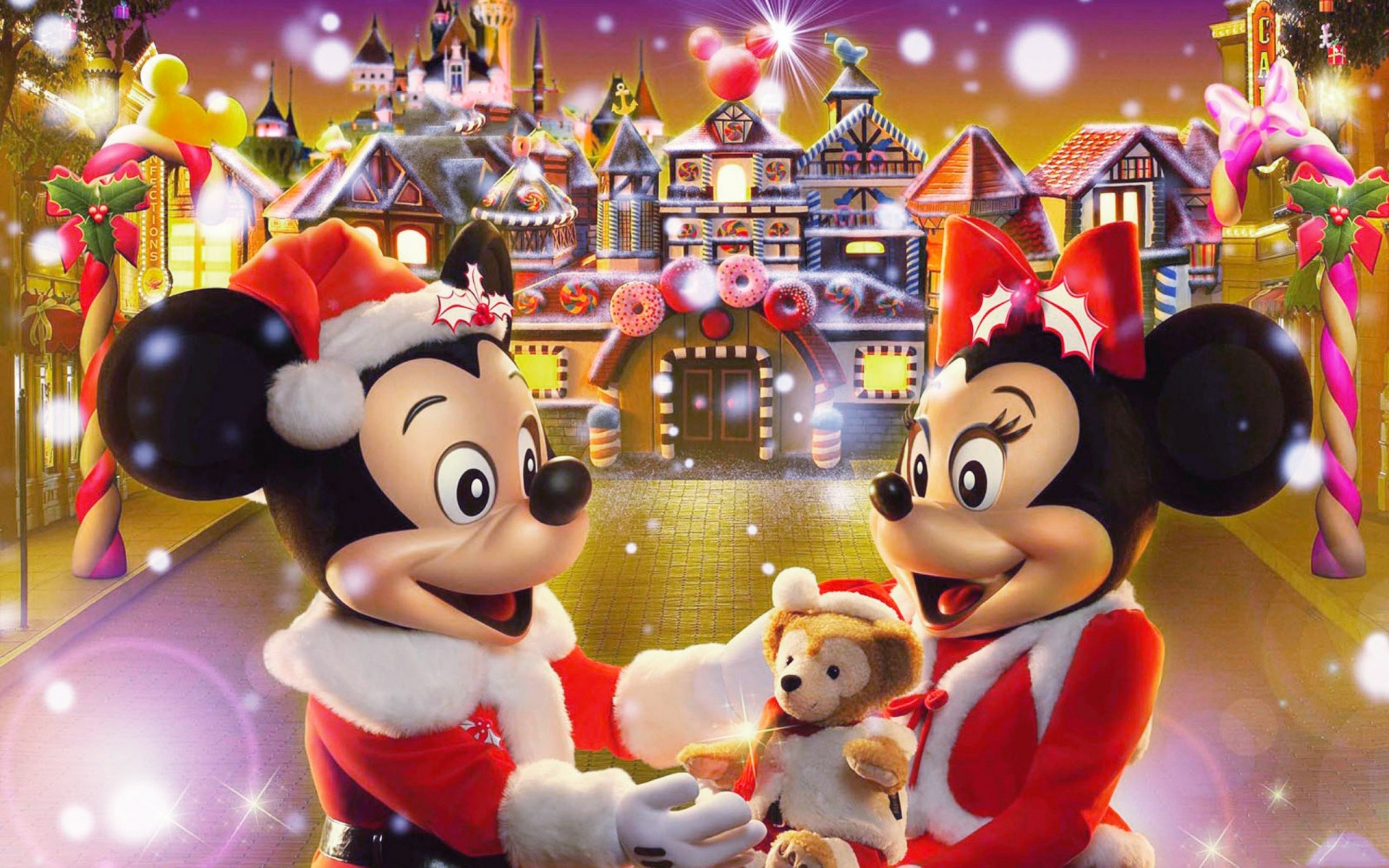 Disney Christmas Background.