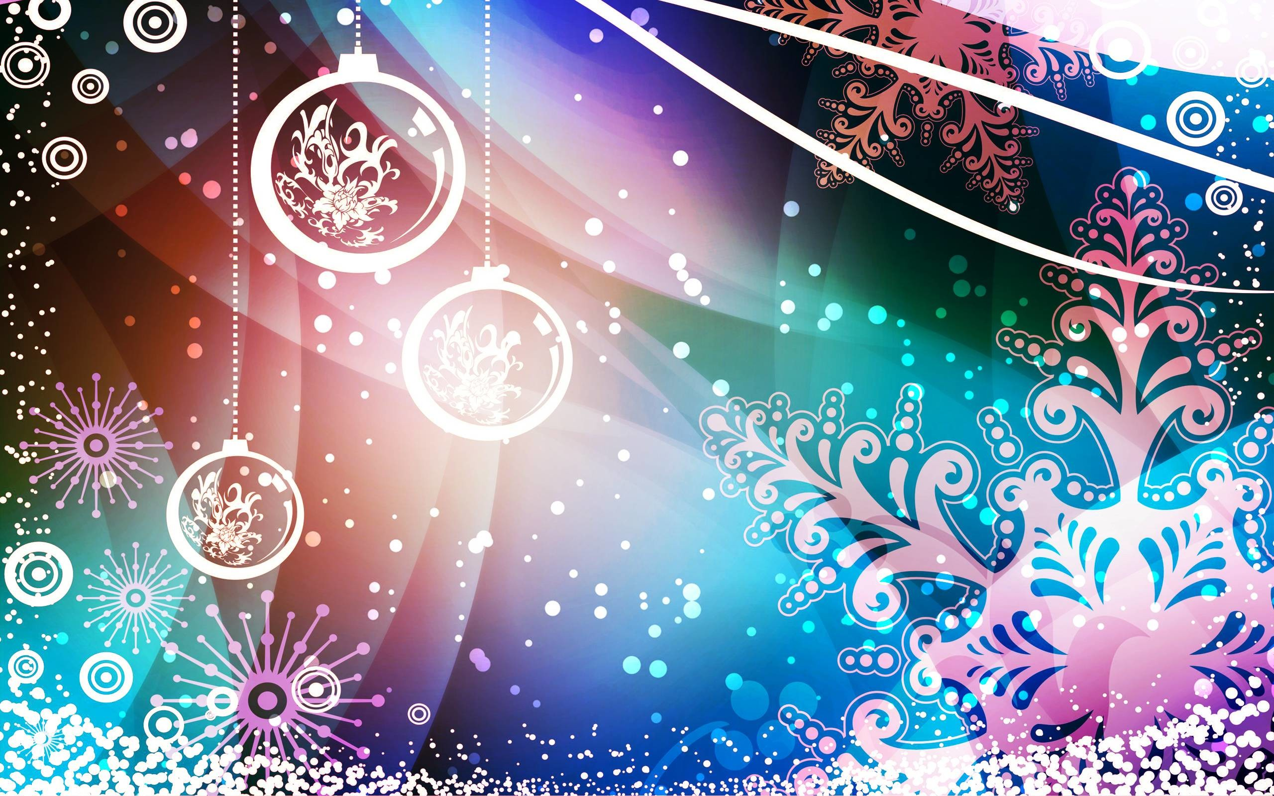 Новогодние Обои Шаблон