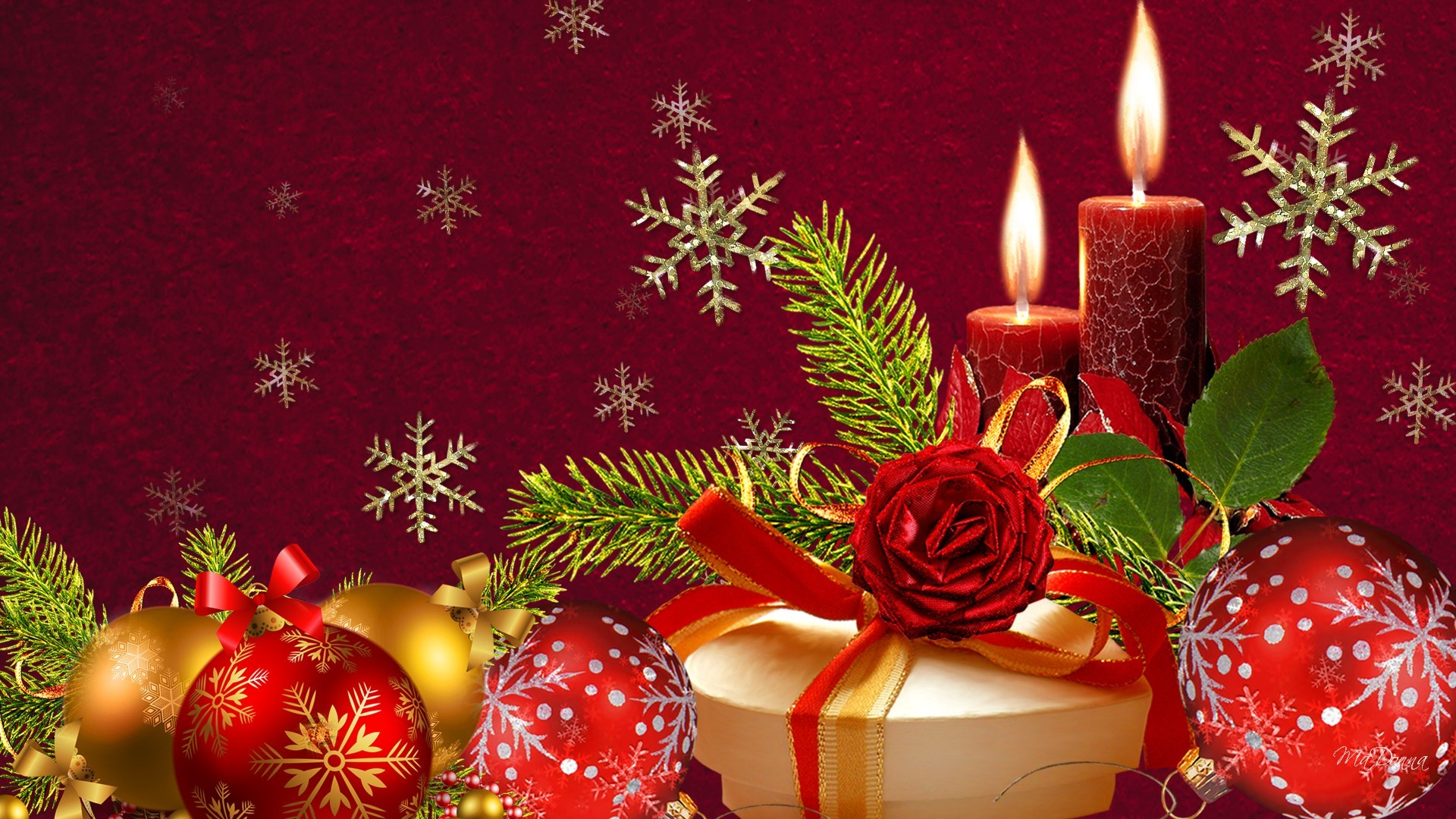 Beautiful Christmas ornaments decoration wallpapers HD for desktop