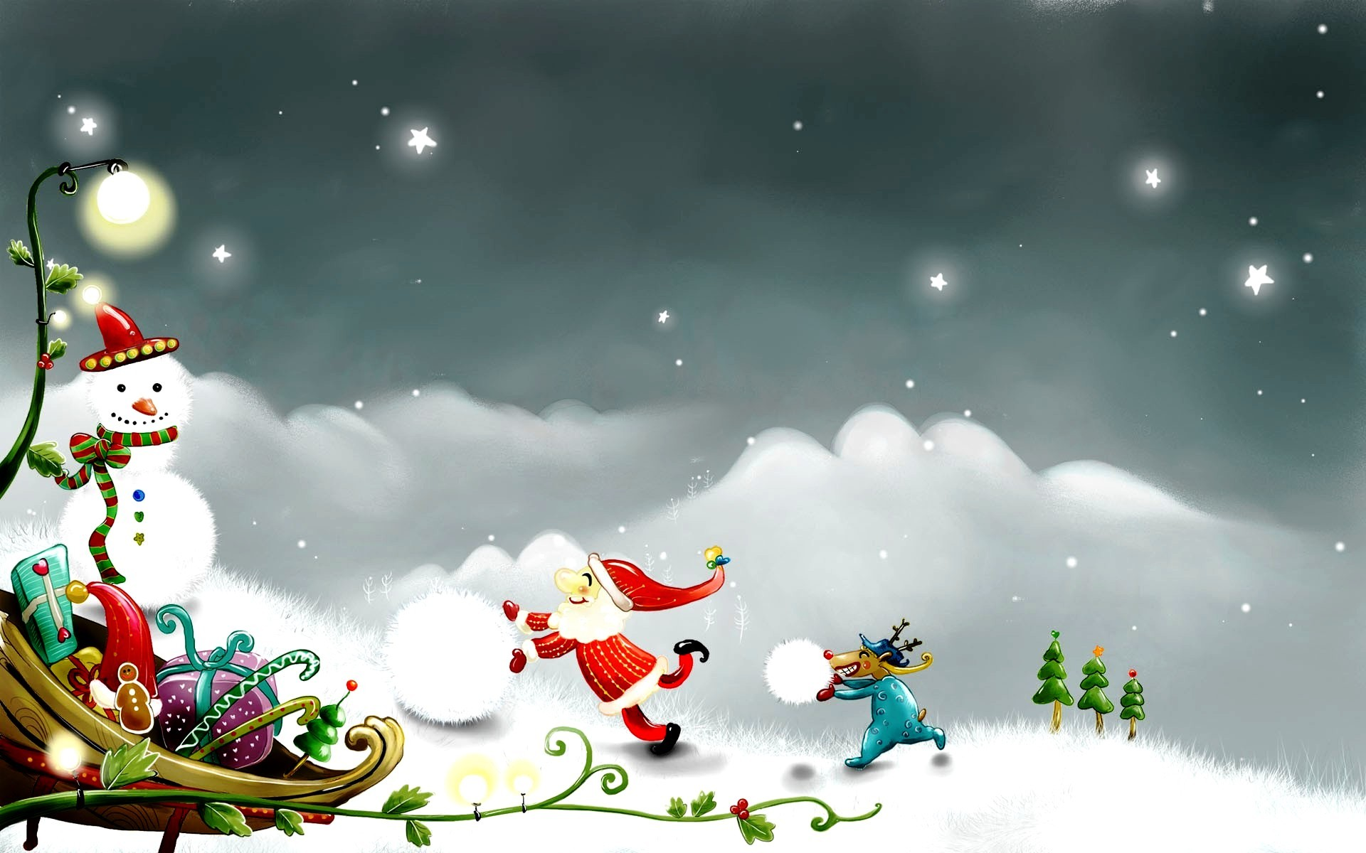 Free Download Winter Christmas Wallpaper.