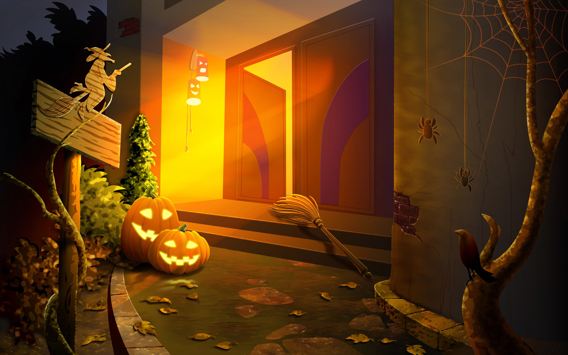 Halloween / House witches wallpapers and images – wallpapers .