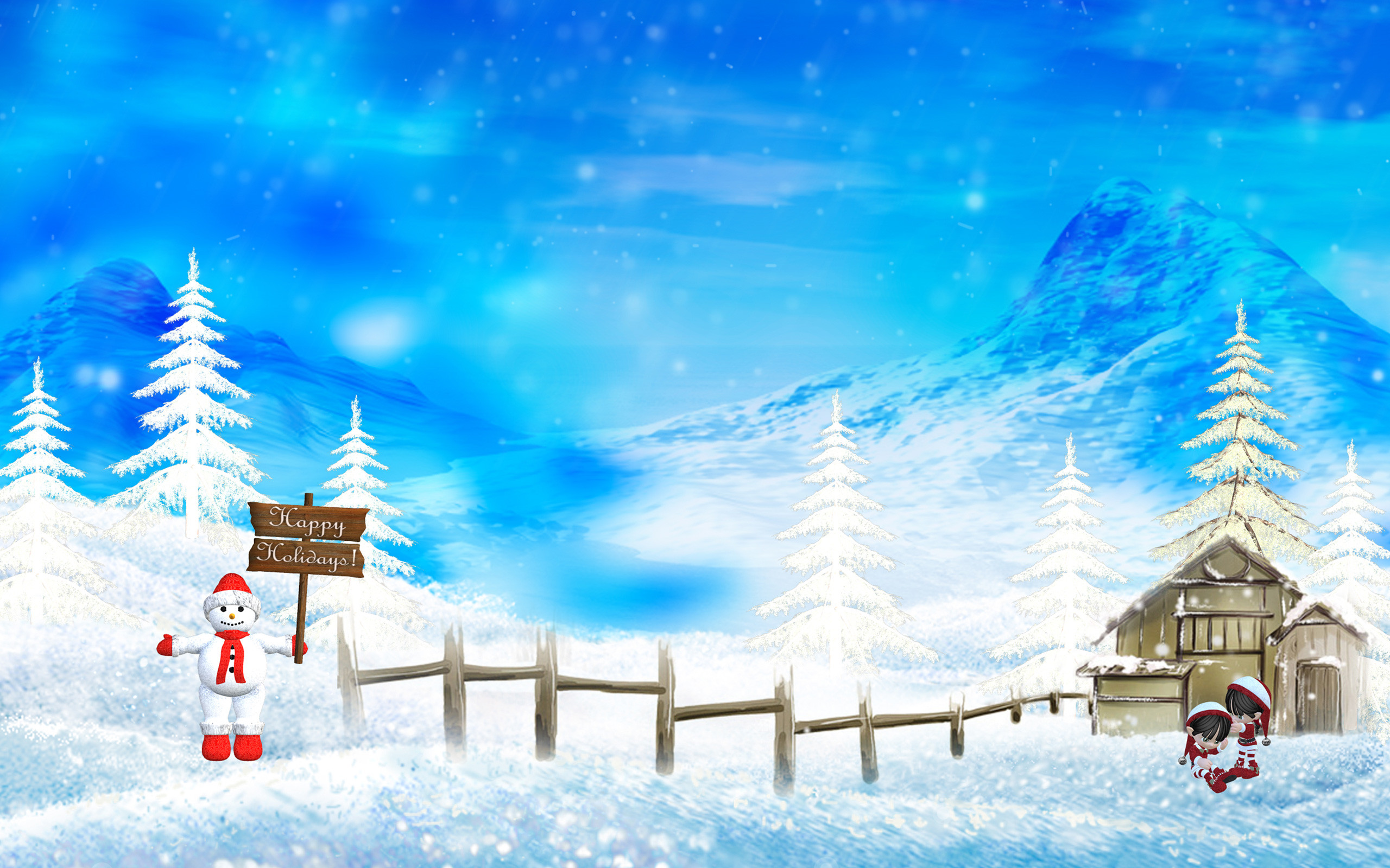 Christmas Nature Scenes HD Wallpapers 8