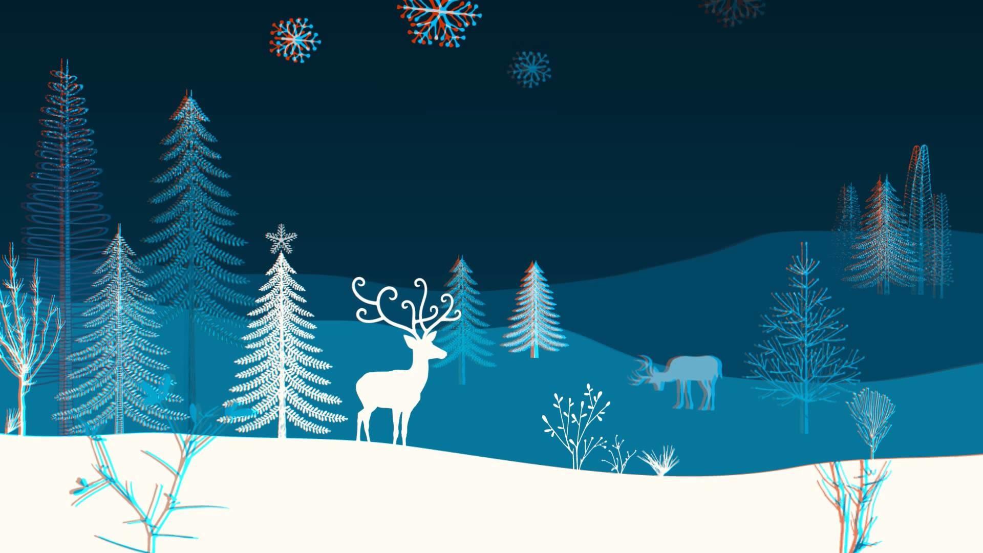 3D Christmas Music BG – Winter Outdoors Scene