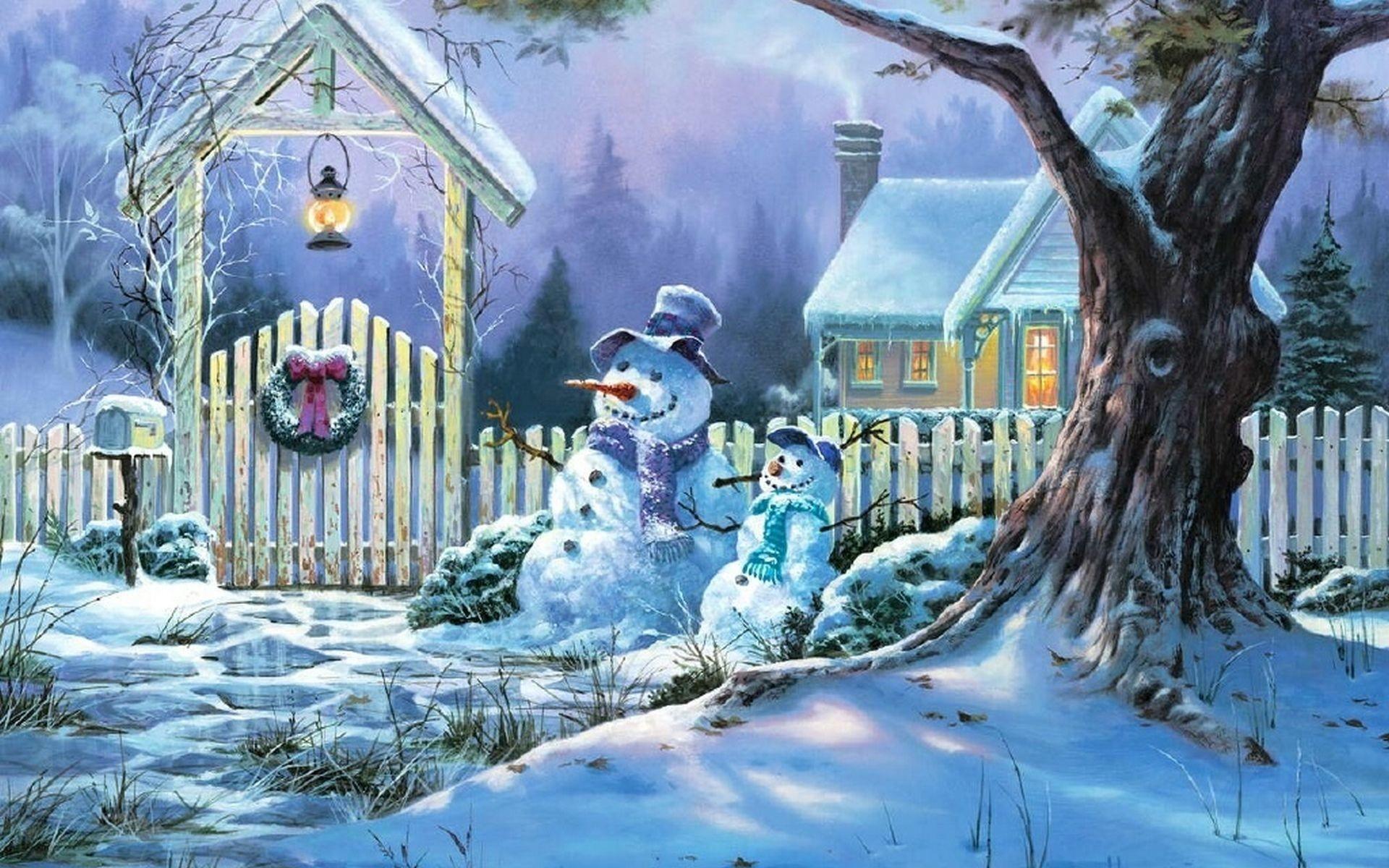 Snowy Christmas Wallpaper