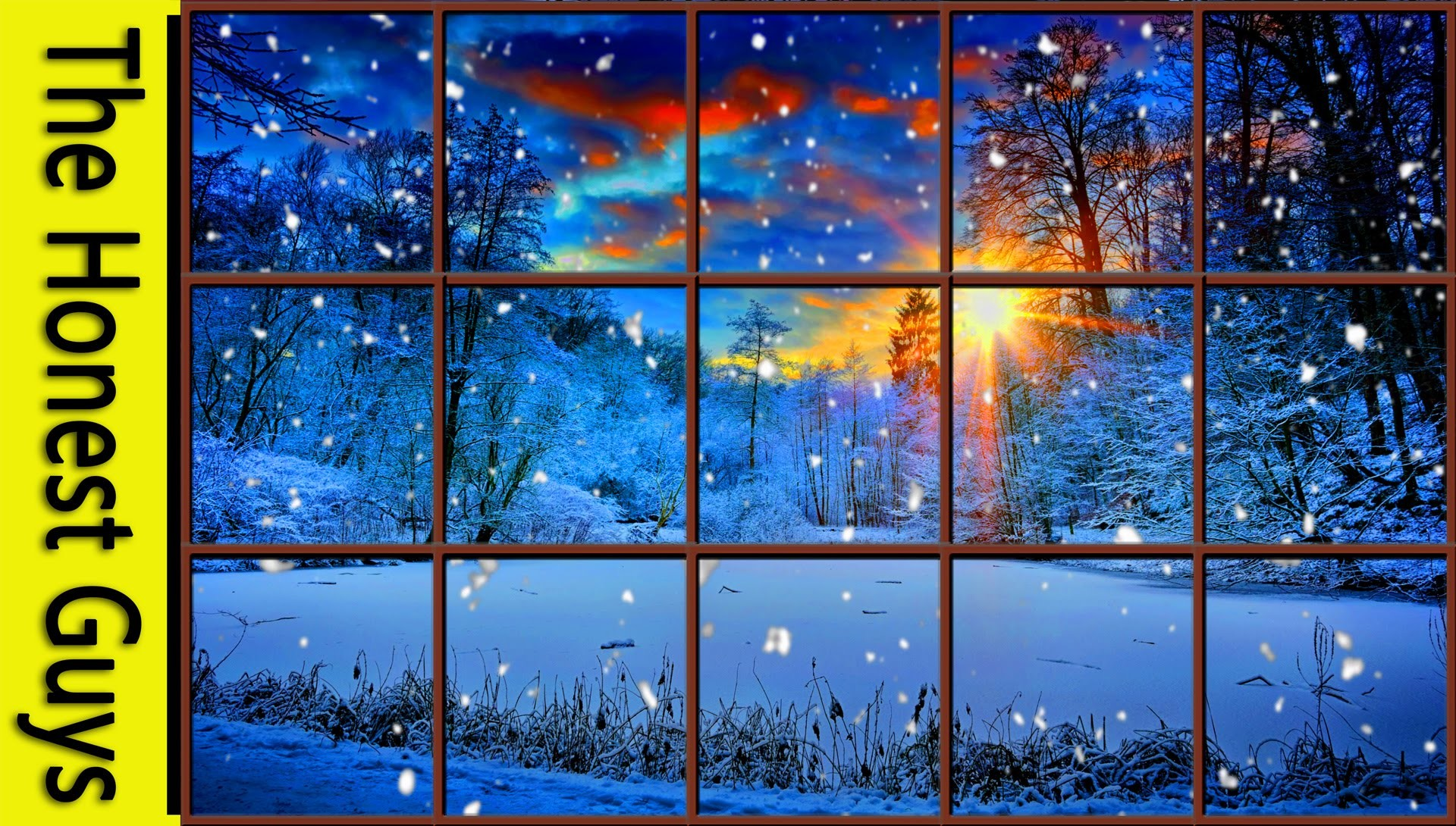 WINTER WINDOW SNOW SCENE (4K) – Living Wallpaper with Ambient Fireplace  Sounds – YouTube