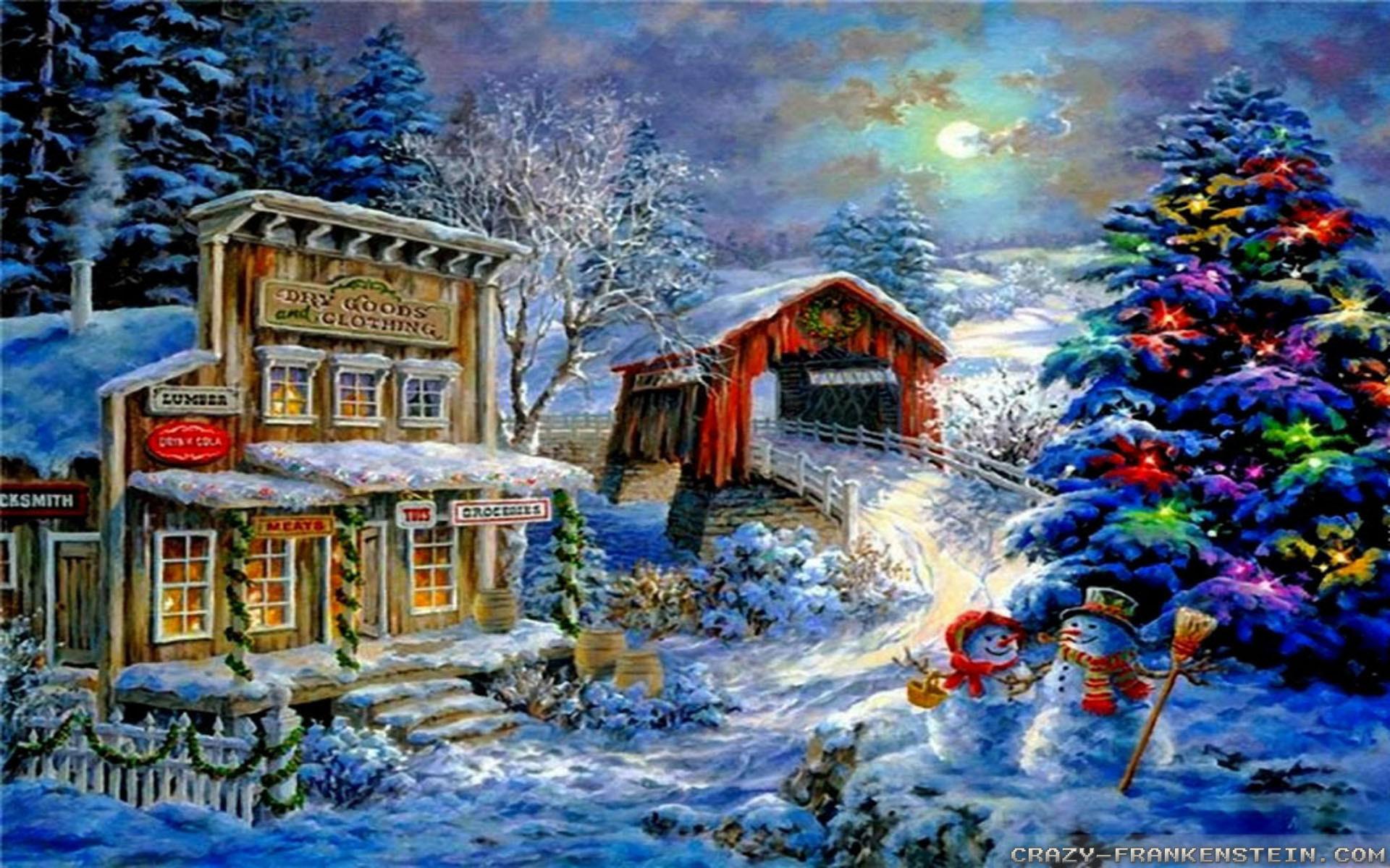 Beautiful Merry <b>Christmas Snow Scenes</b> Images & HD <