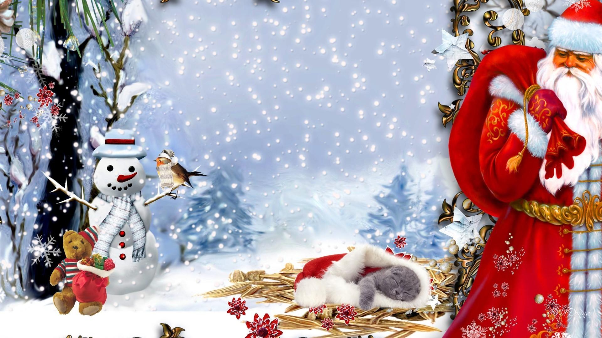 Snowman Tag – Santas Gift Kitty Feliz Navidad Firefox Persona Snowman  Christmas Cat Hay Tree Bird