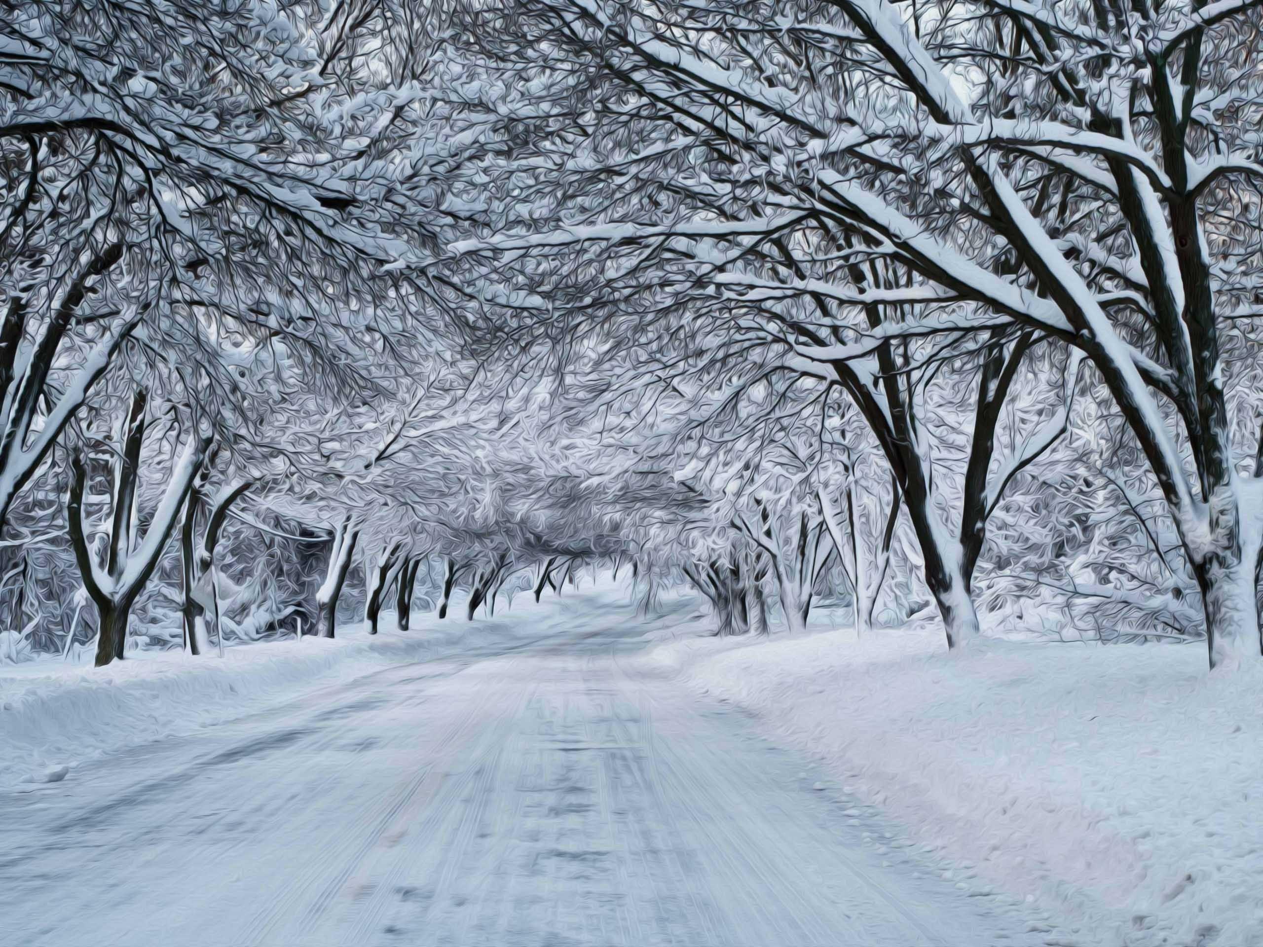 Christmas Winter Snow Scenes Wallpaper Wallpapersafari